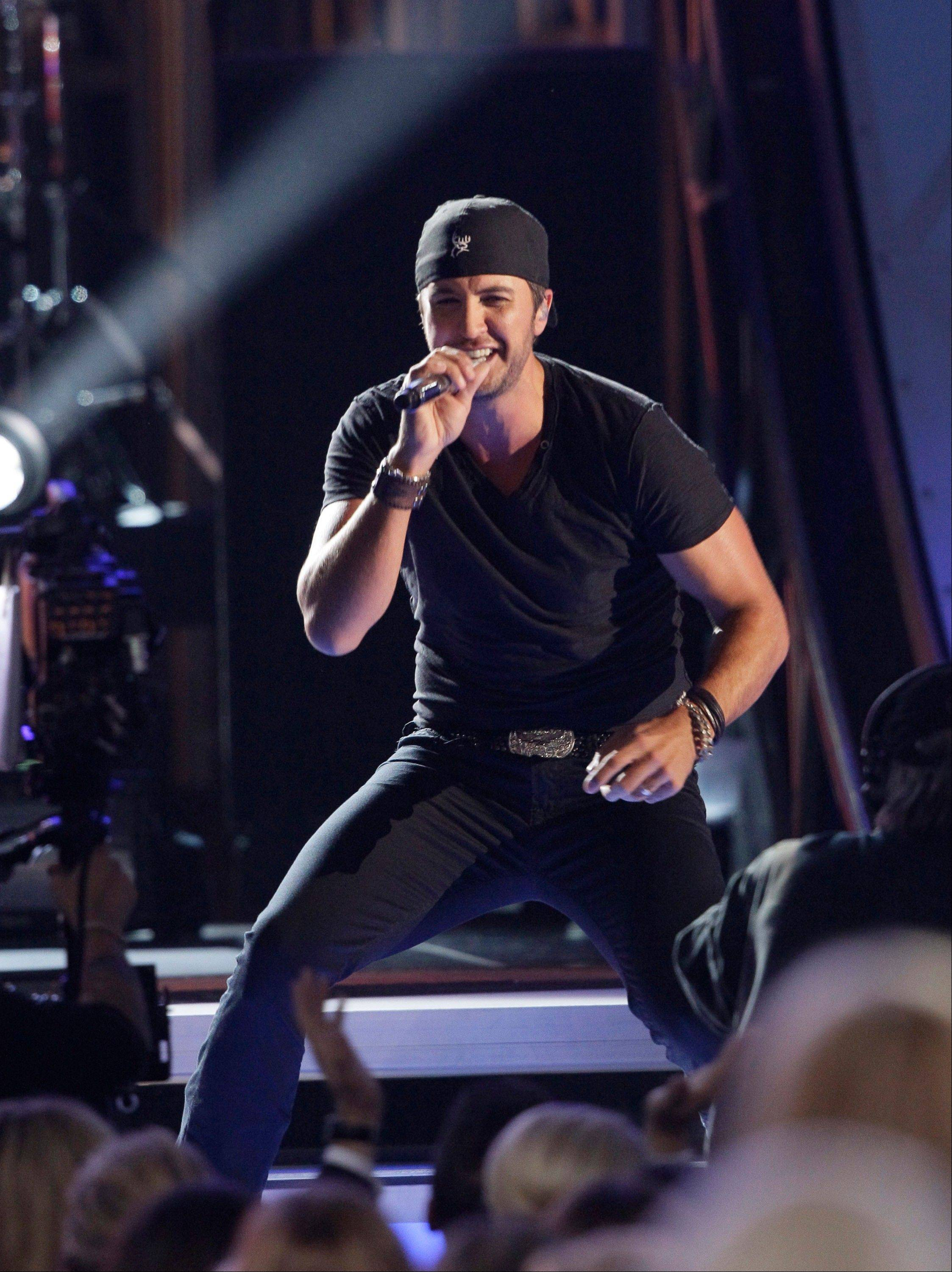 Luke Bryan performs onstage at the 46th Annual Country Music Awards at the Bridgestone Arena on Thursday, Nov. 1, 2012, in Nashville, Tenn.