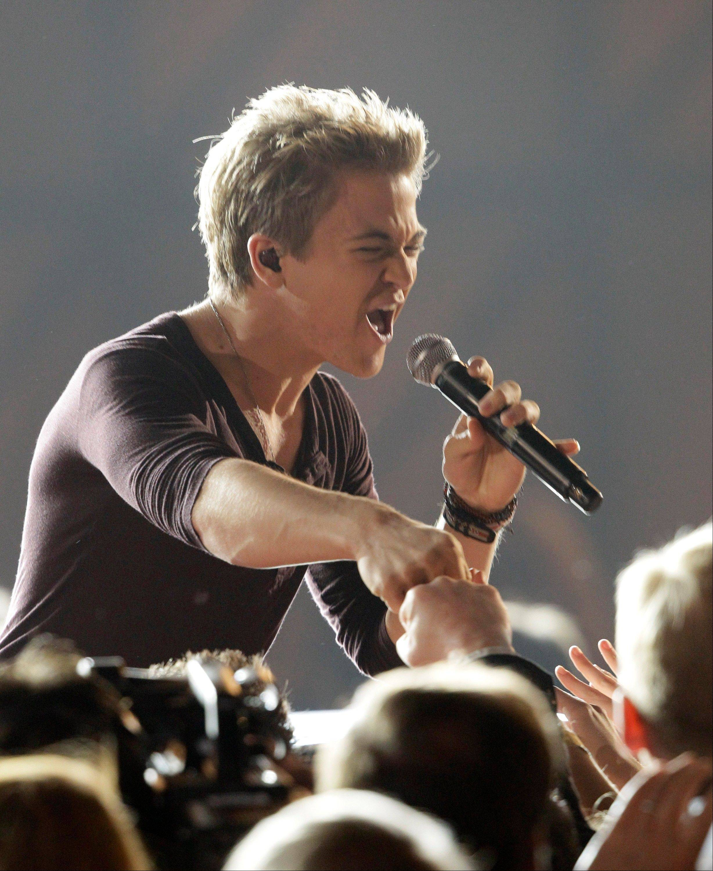 Hunter Hayes performs at the 46th Annual Country Music Awards at the Bridgestone Arena on Thursday, Nov. 1, 2012, in Nashville, Tenn.