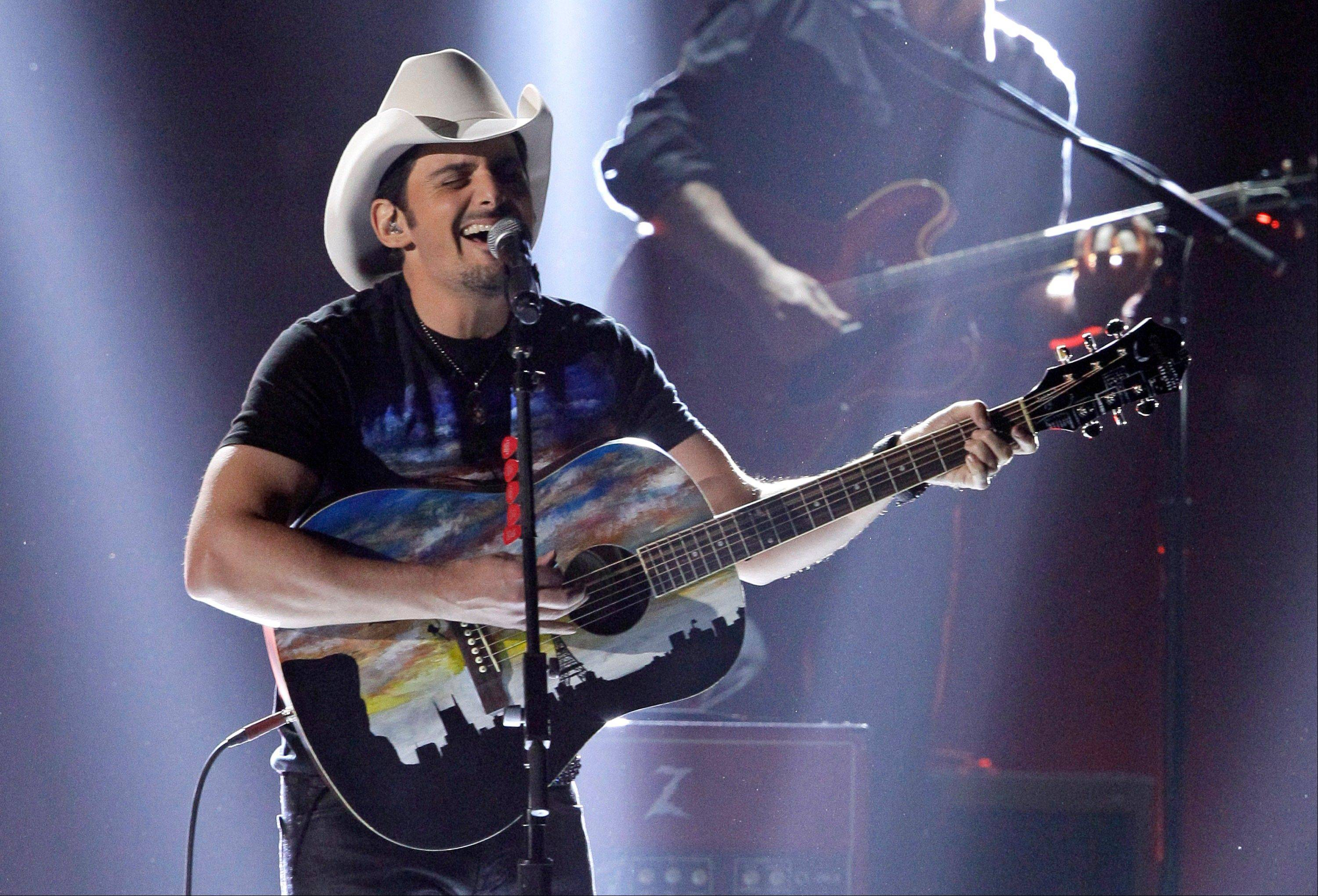 Brad Paisley performs onstage at the 46th Annual Country Music Awards at the Bridgestone Arena on Thursday, Nov. 1, 2012, in Nashville, Tenn.