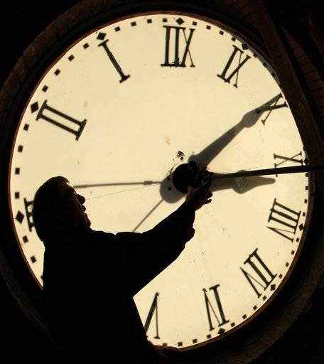 Most Americans will be able to get an extra hour of sleep Sunday Nov. 4, 2012 thanks to the annual shift back to standard time. Officially, the change occurs at 2 a.m. Sunday, but most people will set their clocks back before hitting the sack Saturday night.