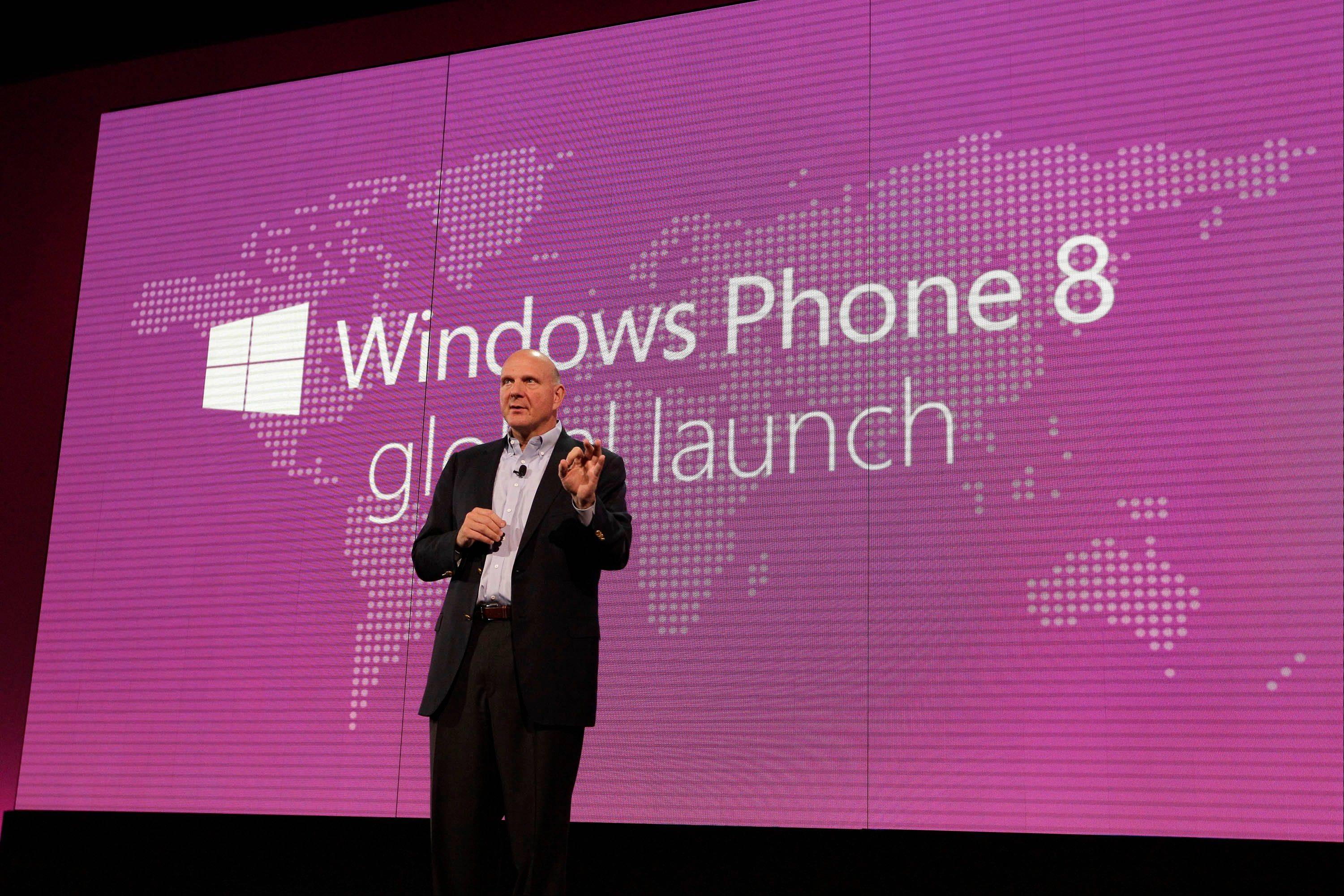 Steve Ballmer, chief executive officer of Microsoft Corp., speaks at an event to unveil Windows Phone 8 software in San Francisco, California. If Windows' new interface takes off, it will be a boon for users, programmers and for the tech industry as a whole. It will make for better, faster, safer computers, and probably ones that last longer, too. But that's a big if.