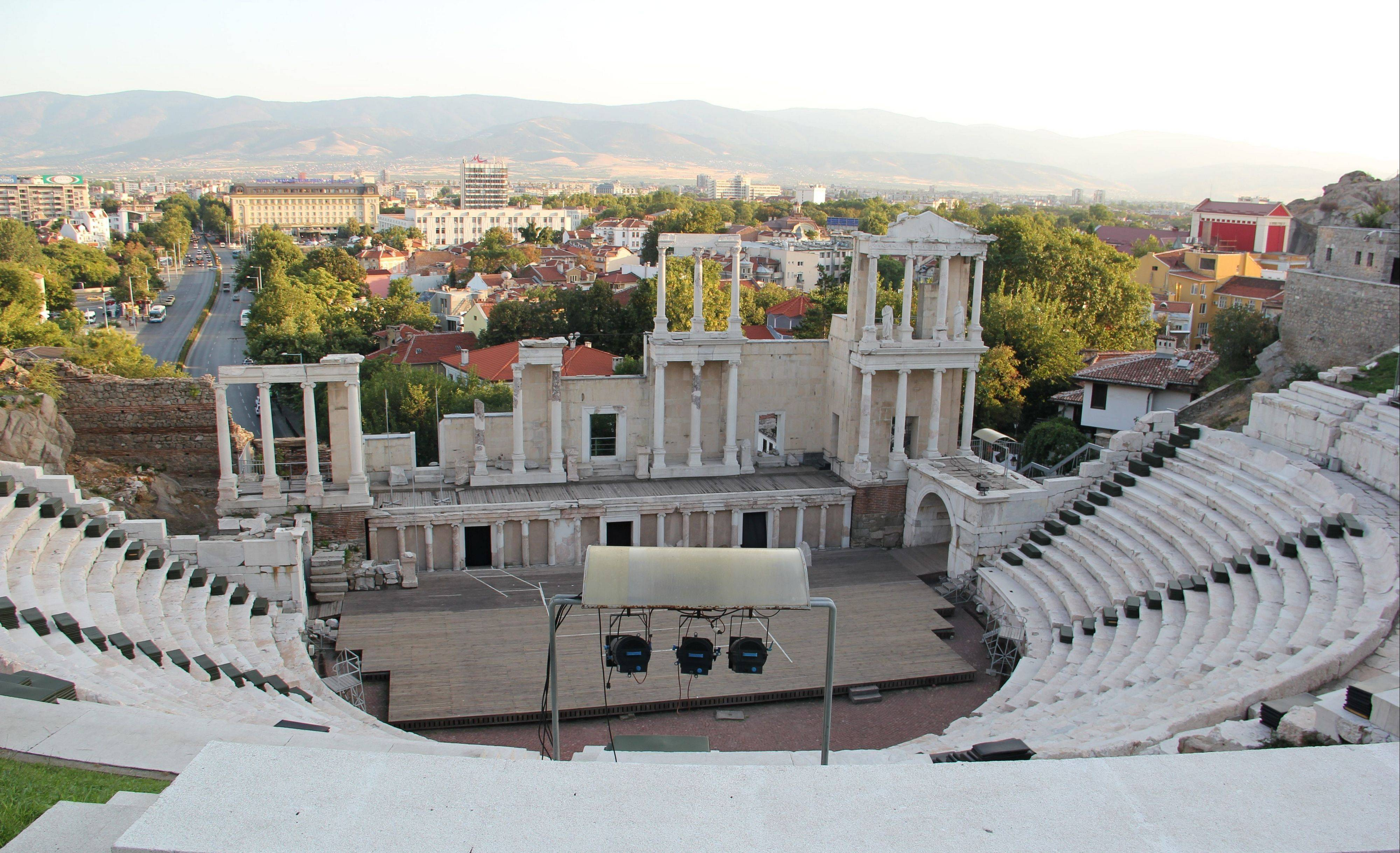 The ancient Roman theater in Plovdiv is one of many antique sites found in Bulgaria.
