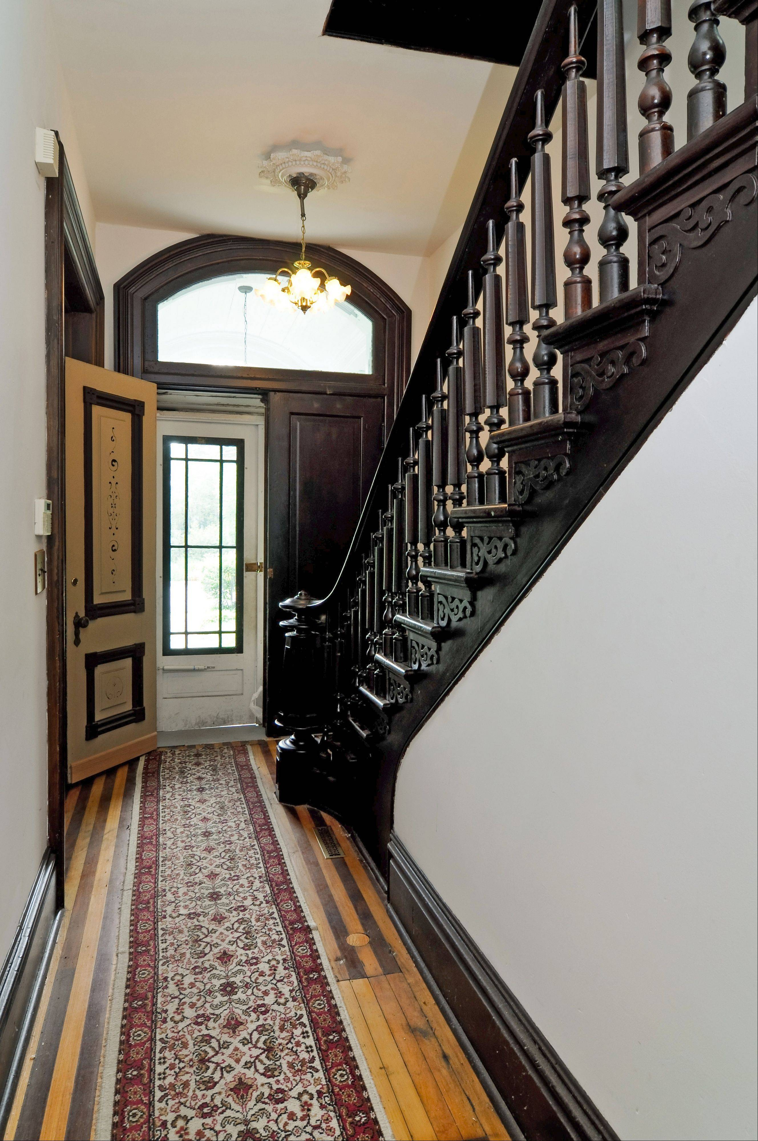 Craftsmanship can be seen in the woodwork throughout the Arlington Heights home.