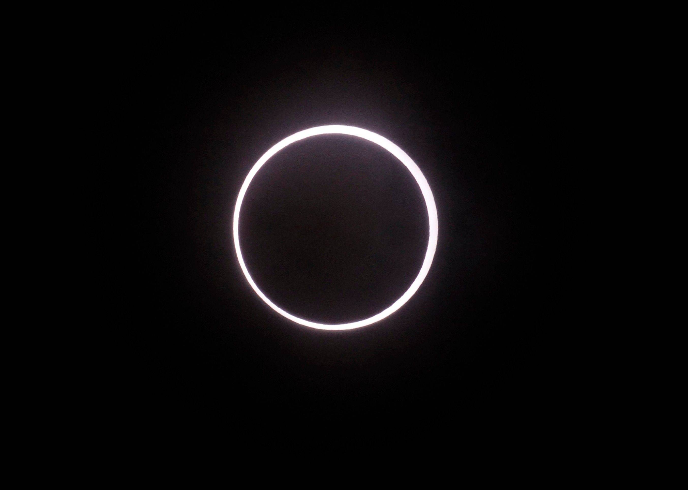 A solar eclipse appeared in the sky over Yokohama, Japan, in May. Australia is expecting 50,000 visitors for a Nov. 14 solar eclipse that will be visible from the Cairns-Port Douglas area in Queensland.