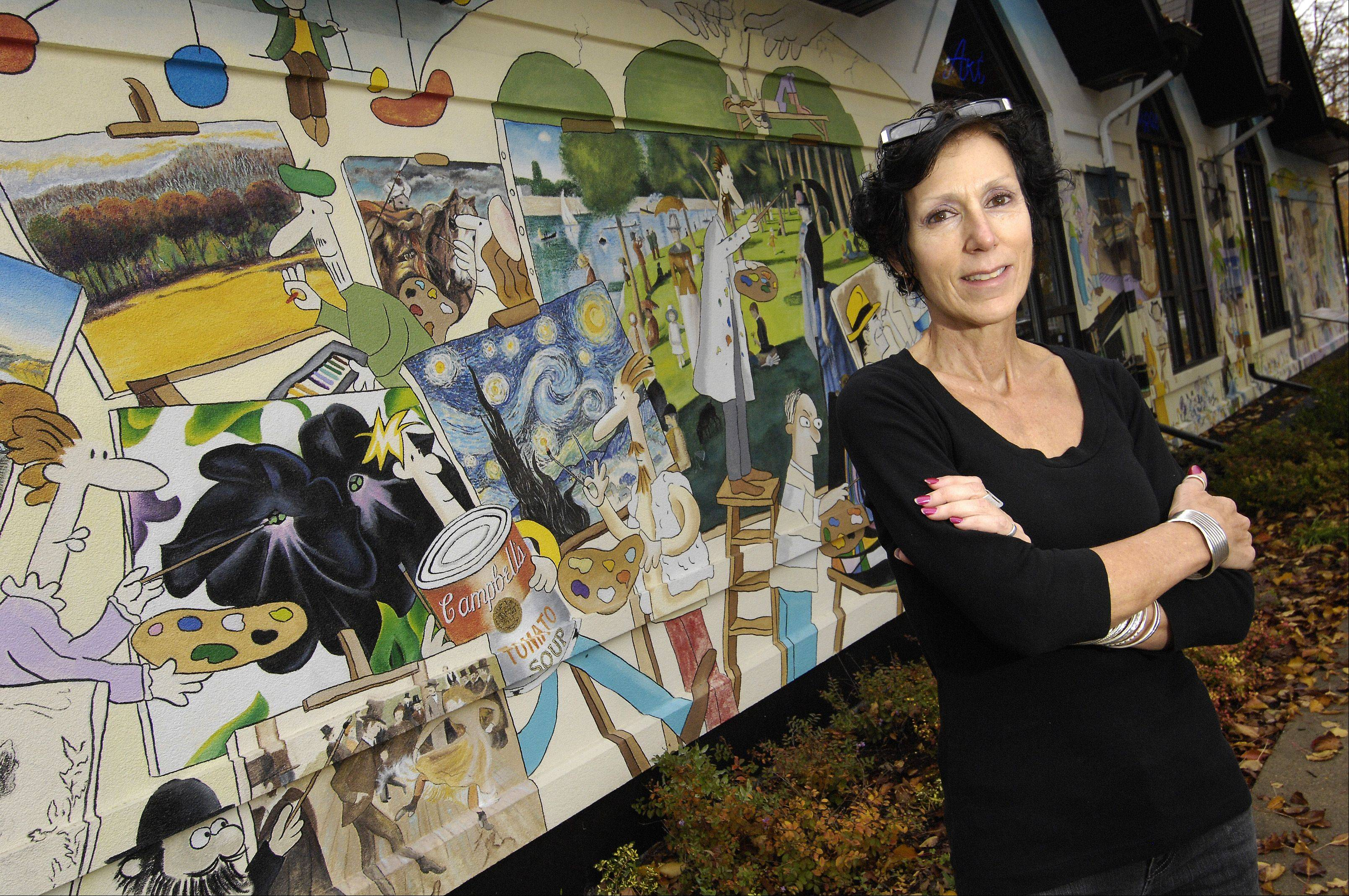 Debbie Venezia, executive director of the Naperville Art League, looks forward to increasing the league's connections with the community as the group celebrates its 50th anniversary.