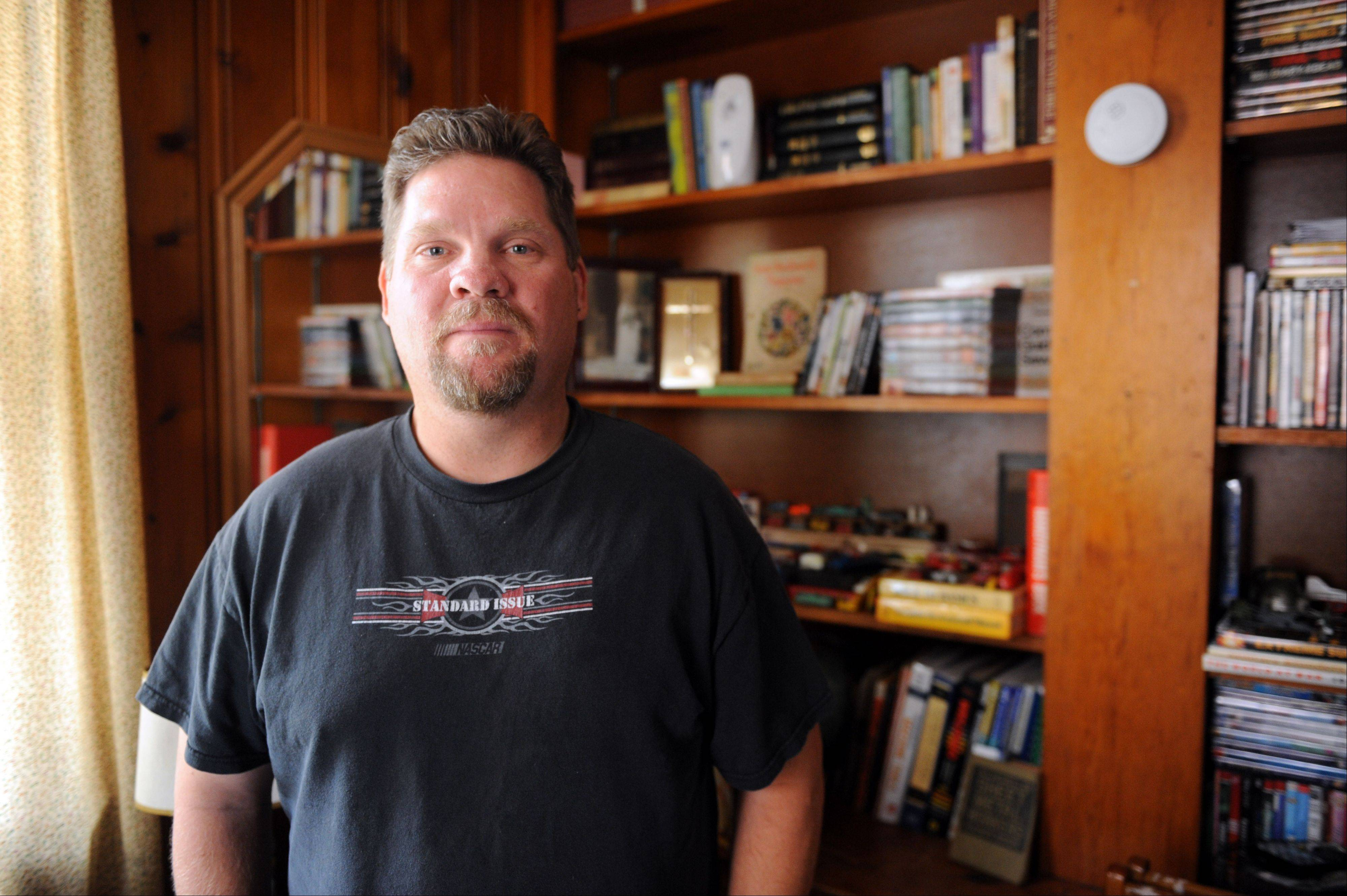 Jody Baugh lost his welding job in fall 2008 when his recreational vehicle factory in Wakarusa, Ind., closed, a casualty of the recession. He now makes modular homes and likes his job and company, but worries about gas prices, health care costs and more generally, the future.