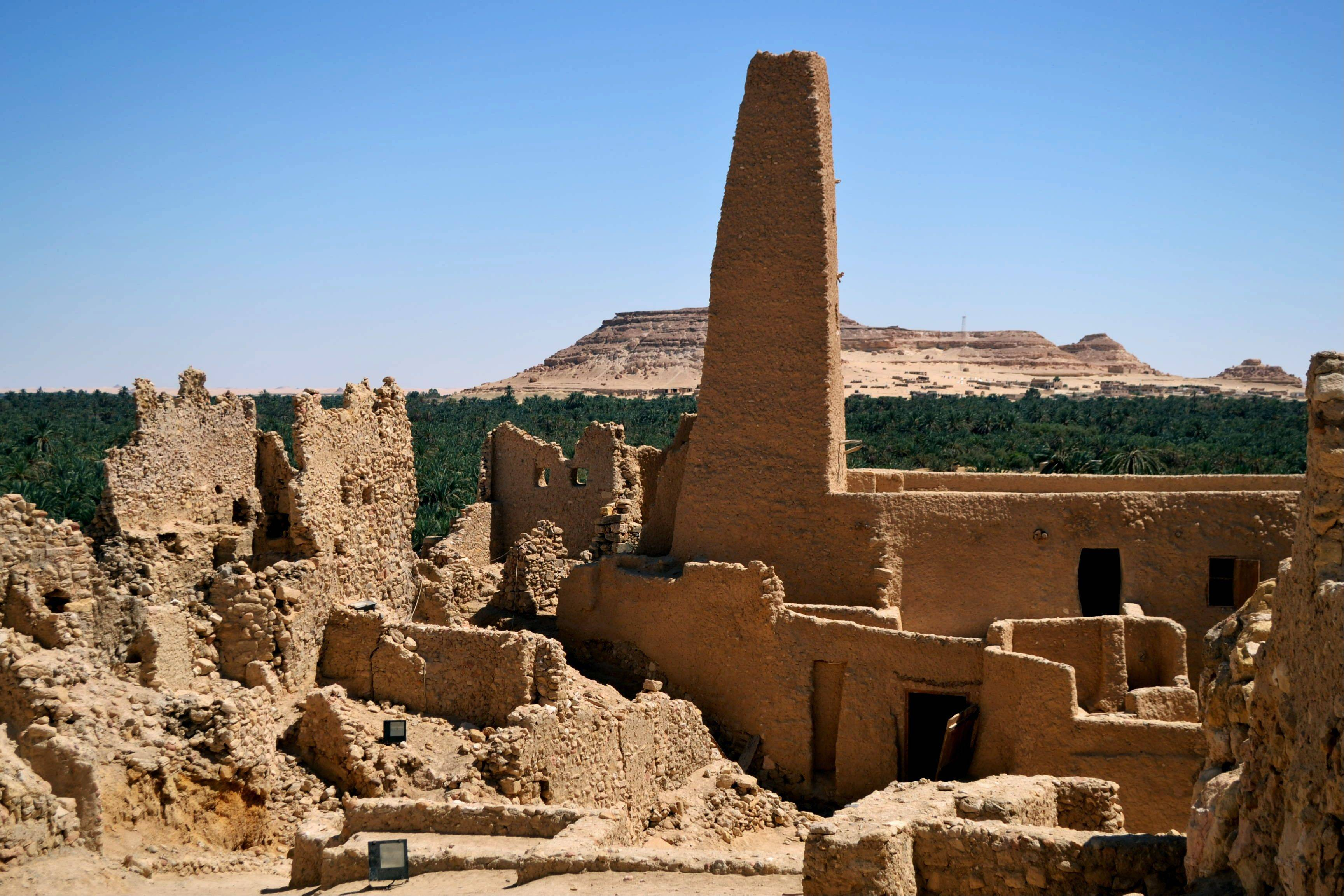 Ruins called the Fortress of Shali draws tourists to the Egyptian oasis of Siwa, a Berber town of some 27,000 people.