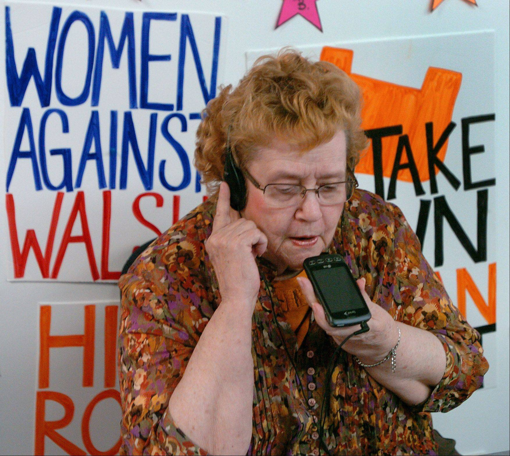 "A retired teacher who worked with young kids and union contracts, 79-year-old Ruth Farnham of Hanover Park possesses the patience needed to make blind phone calls to registered voters during her volunteer work with the CREDO SuperPAC in Elk Grove Village. Her husband, Willis ""Bill"" Farnham, is a precinct captain at age 91."