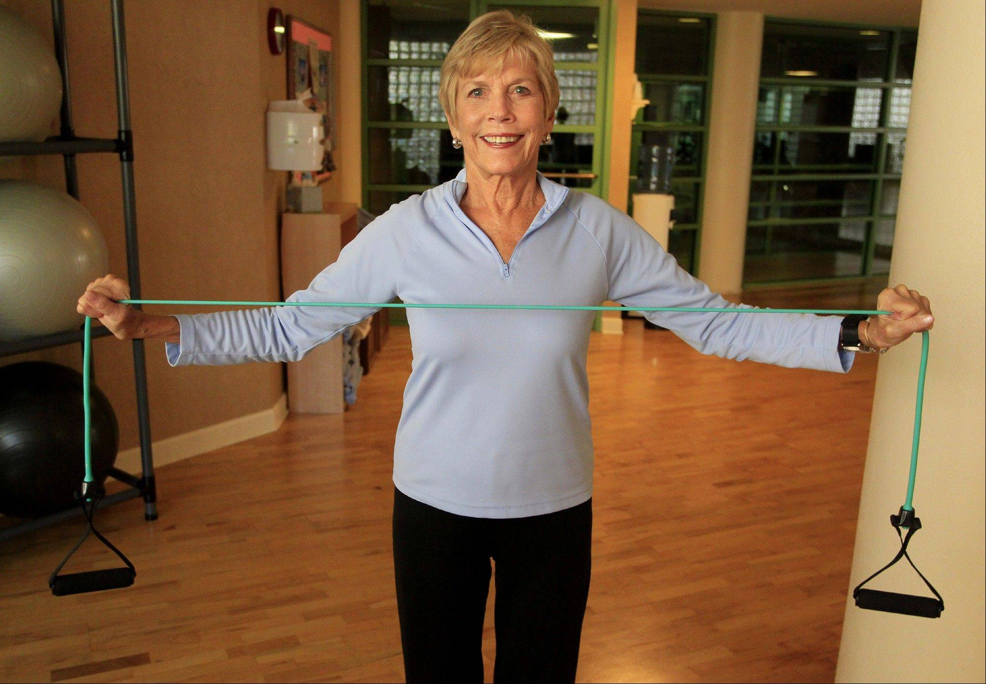 Resistance band exercises: reverse fly