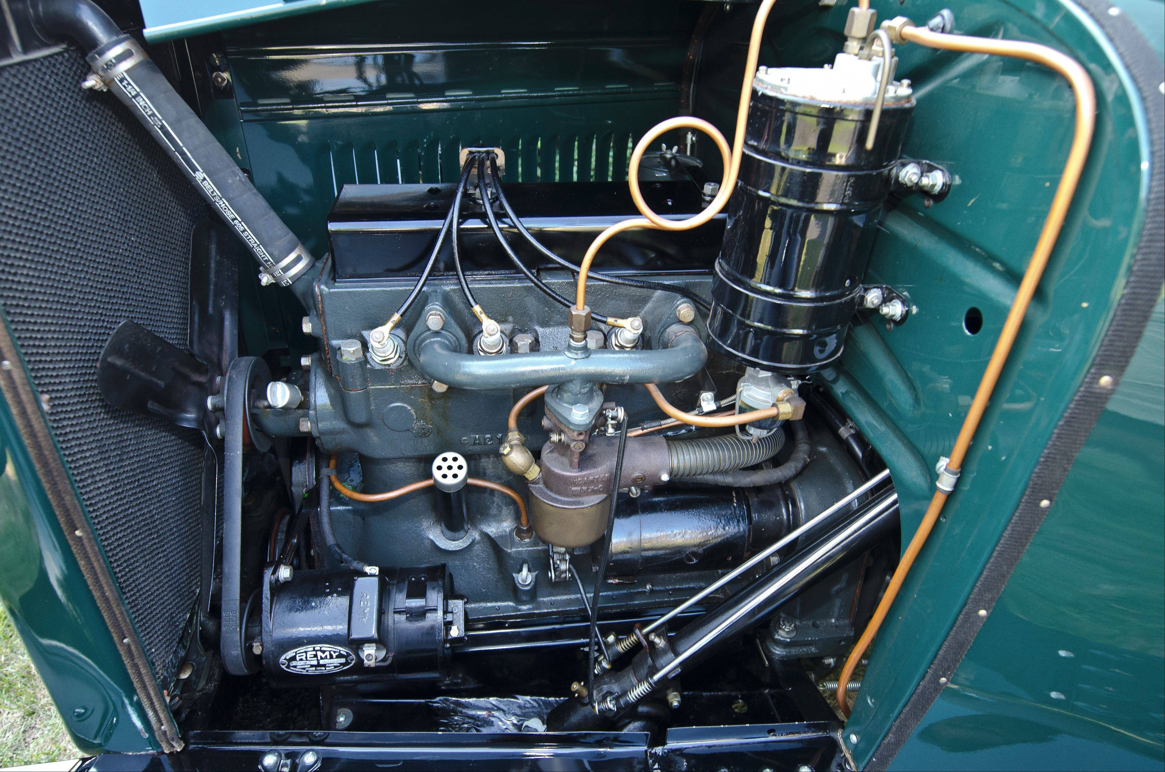The four-cylinder engine is capable of producing 25 horsepower and 30 mph.