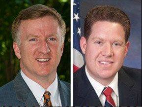 Democrat Chris Kennedy, left, opposes Republican Mike Nerheim for Lake County State's Attorney