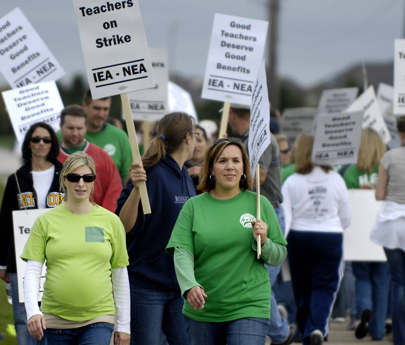 Teachers in Huntley Unit District 158 struck for three days in 2008 and have threatened to do so again.