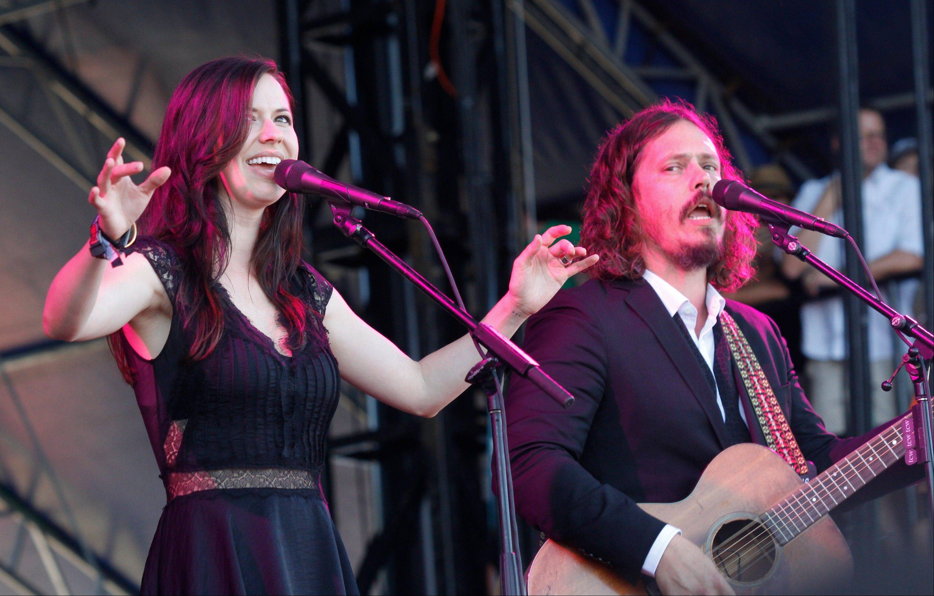 Joy Williams, left, and John Paul White of The Civil Wars are calling off their upcoming tour dates, citing irreconcilable differences.