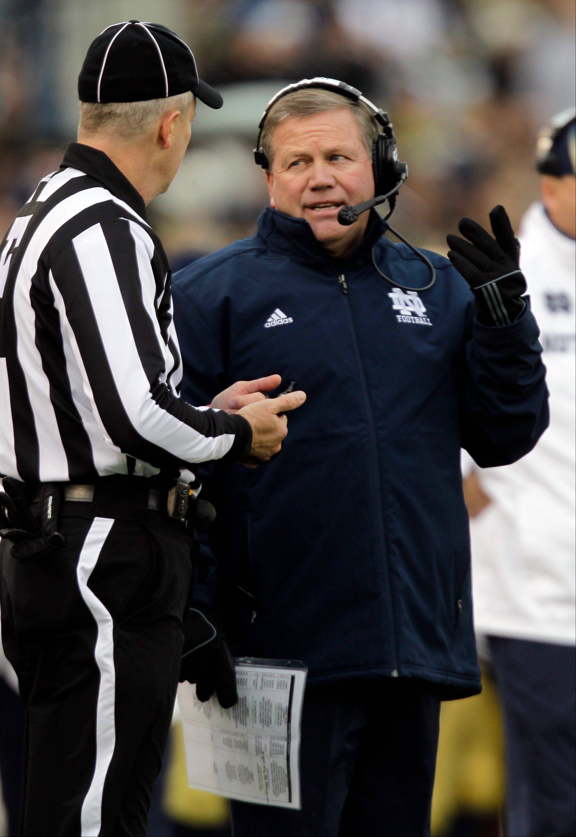 At this point, it doesn�t appear that coach Brian Kelly�s No. 4 Notre Dame team can play with the top three teams.
