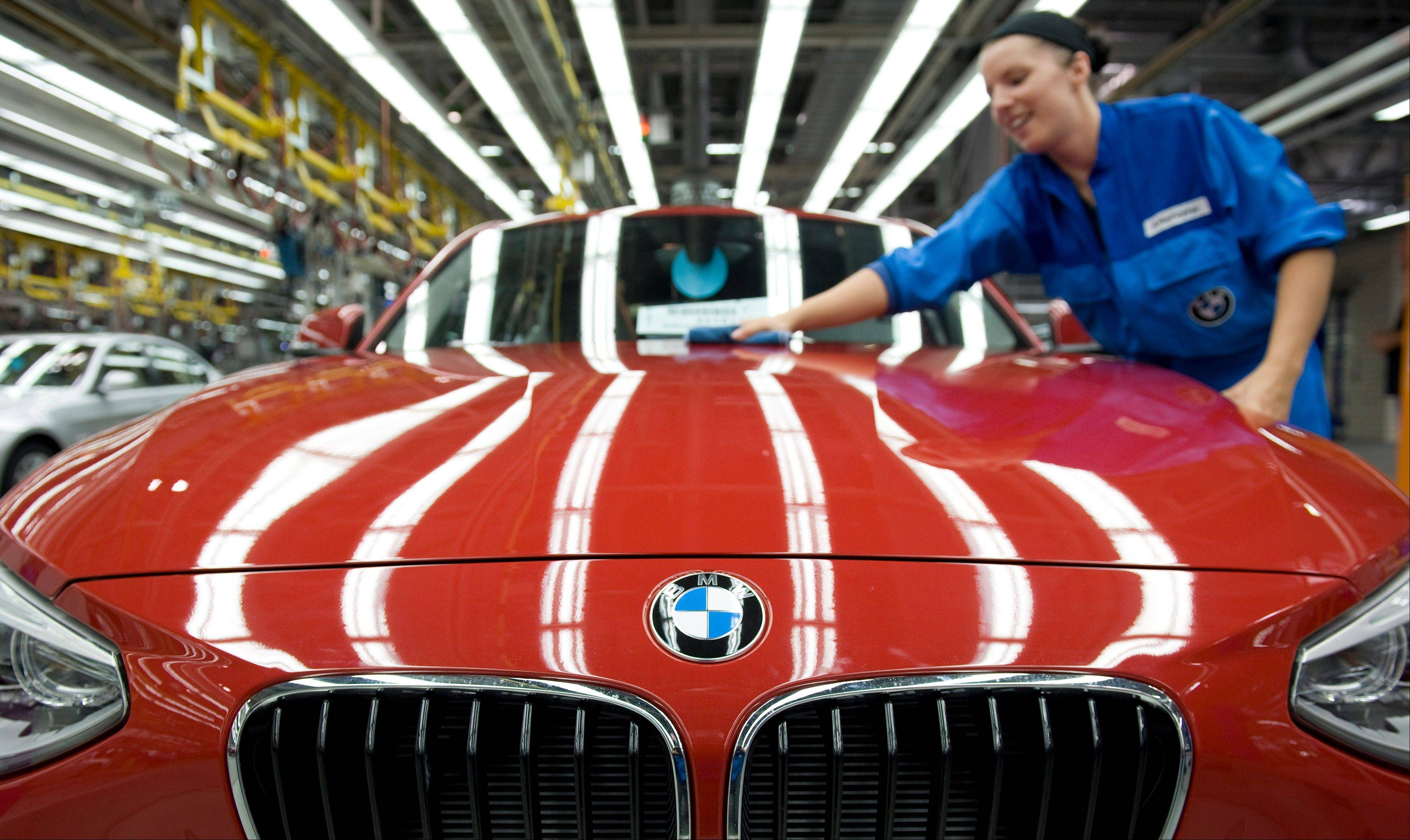 Strong sales of its luxury cars in China helped Germany's BMW AG overcome weak markets in crisis-ridden Europe.