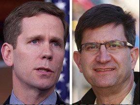 Republican Robert Dold, left, is trailing Democrat Brad Schneider in the 10th House District.