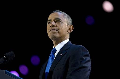 President Obama spoke in Chicago after Mitt Romney conceded the presidential race Monday night.