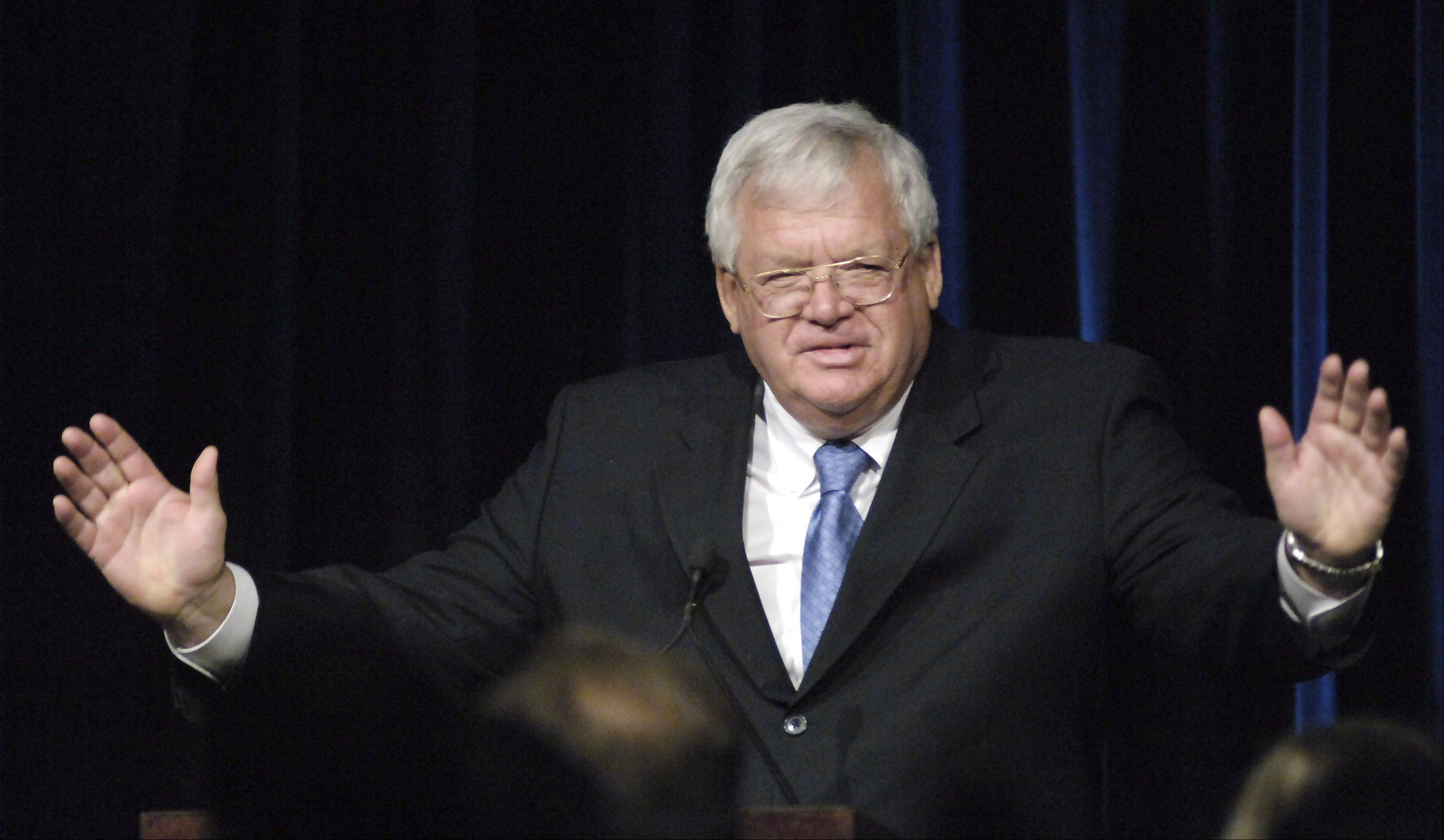 Former U.S. Speaker of the House J. Dennis Hastert will be in Naperville Thursday to provide analysis of Tuesday's election as part of a program sponsored by Northern Illinois University.