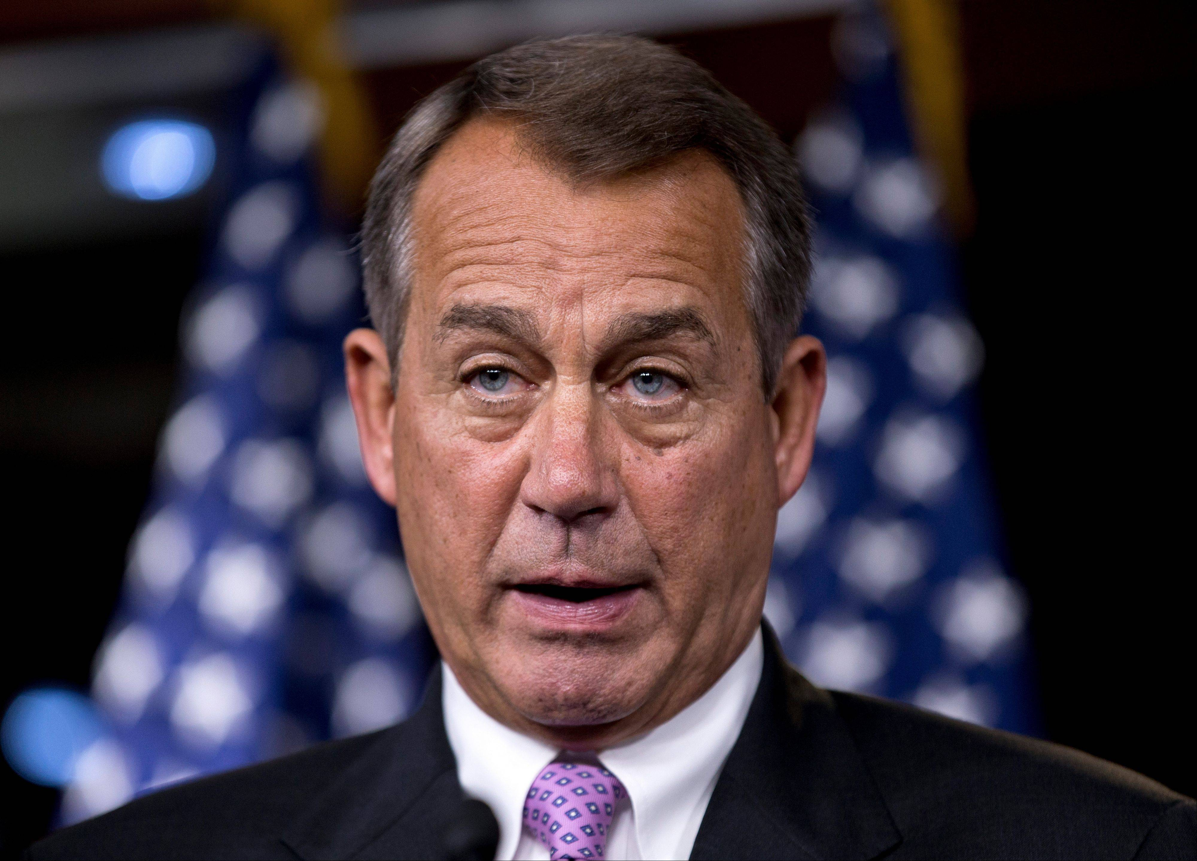 "ASSOCIATED PRESS Economists overwhelmingly advise President Obama, following his re-election Tuesday, to avoid the impending ""fiscal cliff."" To do that, he must strike an agreement with House Republicans, whose leader is House Speaker John Boehner, seen here."