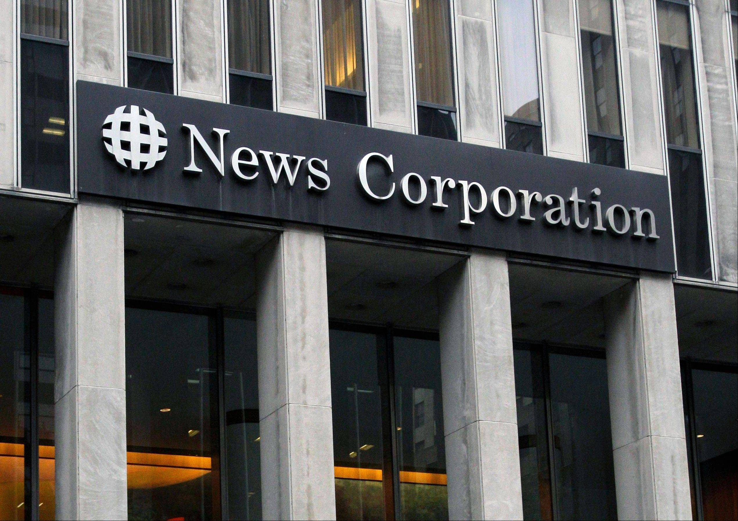 News Corp. reported that net income for the latest quarter tripled from a year ago, reflecting a one-time gain from the sale of its stake in digital video technology company NDS. Revenue rose 2 percent thanks to growth at pay TV networks such as Fox News Channel.