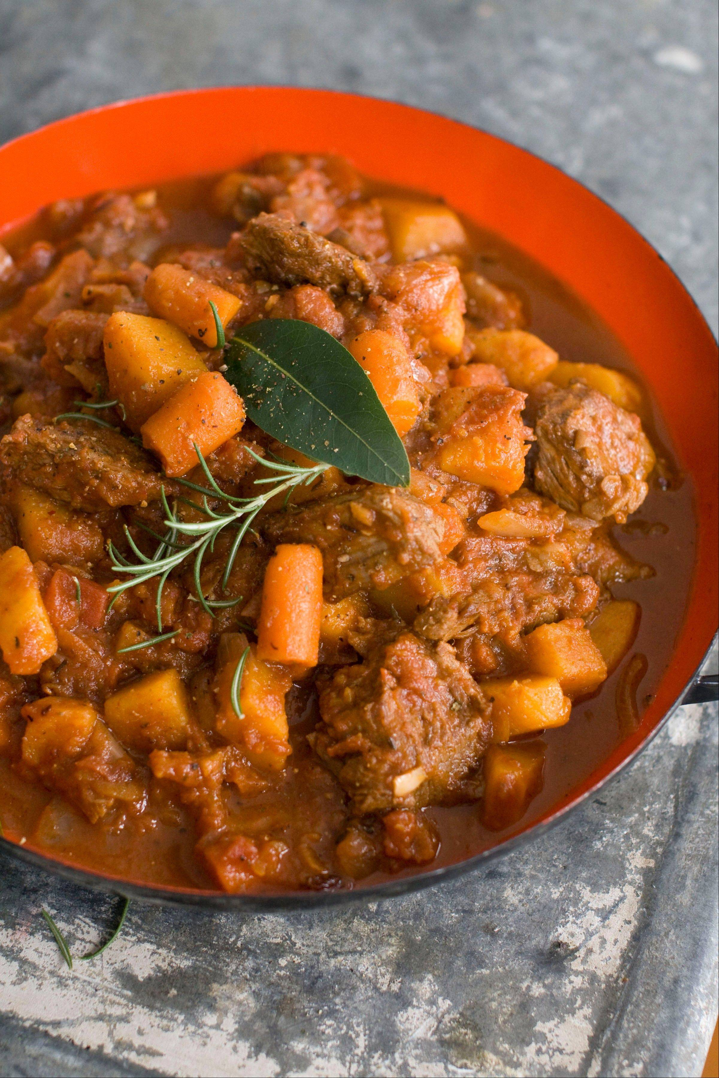 Speedy Beef and Butternut Stew tastes just like it's simmered all day; it really cooks in about 30 minutes.