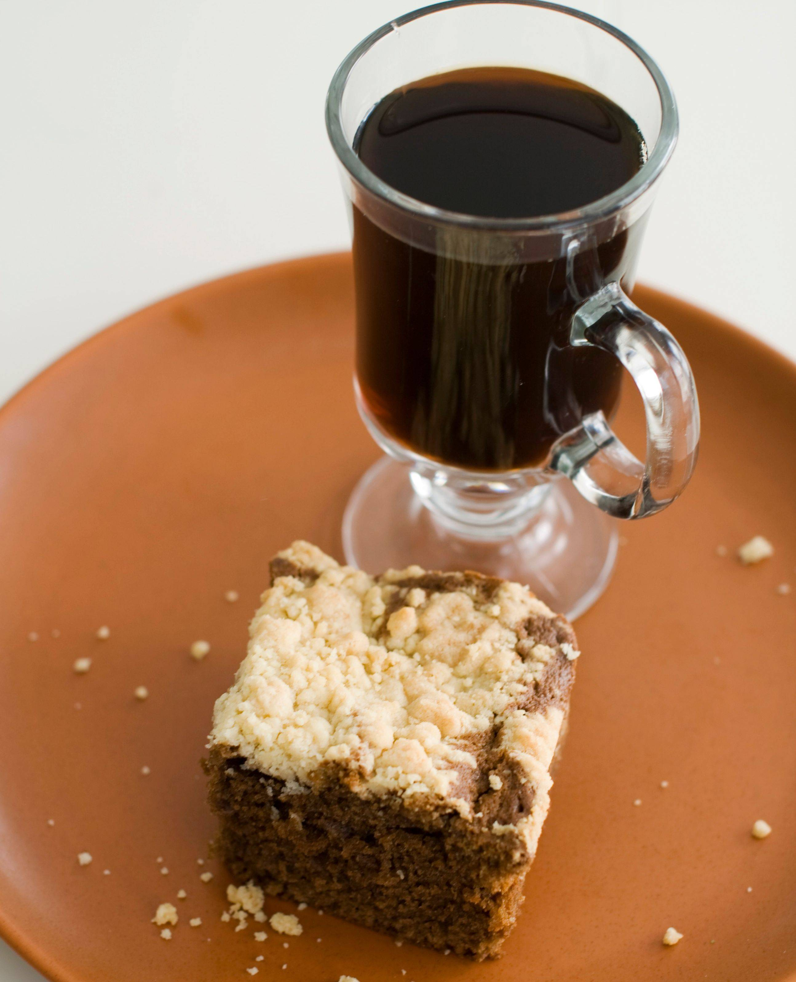Instant coffee perks up this rich, no-yeast coffee cake.