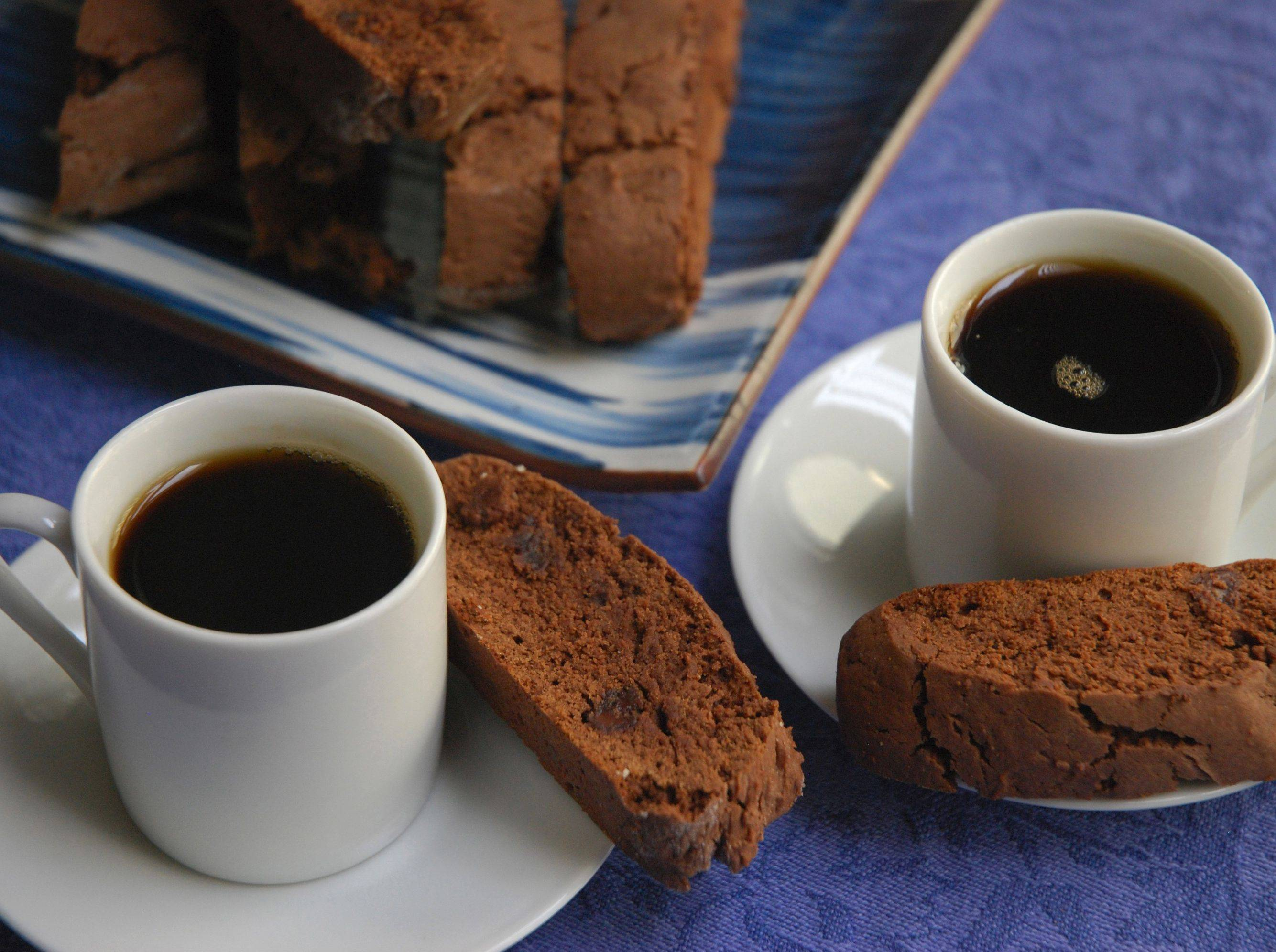 Crisp, chocolate-y and perfect for dunking, Double Chocolate Biscotti are sure to please.