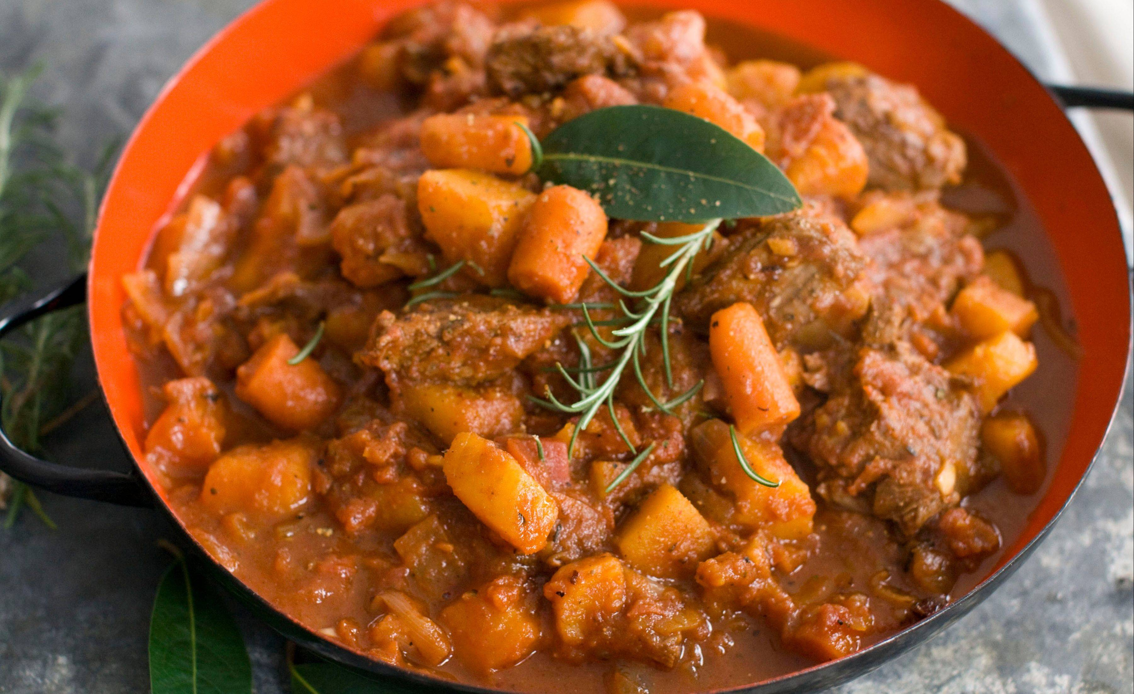 Speedy Beef and Butternut Stew tastes just like it's simmered all day; it really cooks in about 30 minutes
