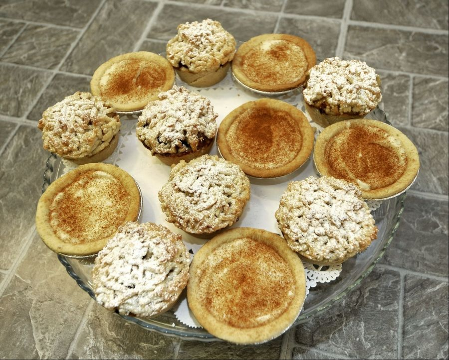 Mini custard tarts and apple crumble will sate sweet tooths who visit Pie Boss in Aurora.