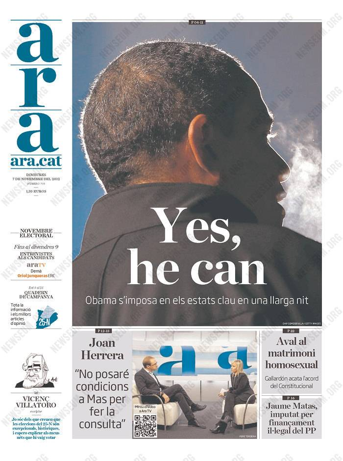Front pages of newspapers from around the world reflect the results of Tuesday's election. Some went to press before President Barack Obama was declared the victor and GOP nominee Mitt Romney conceded.