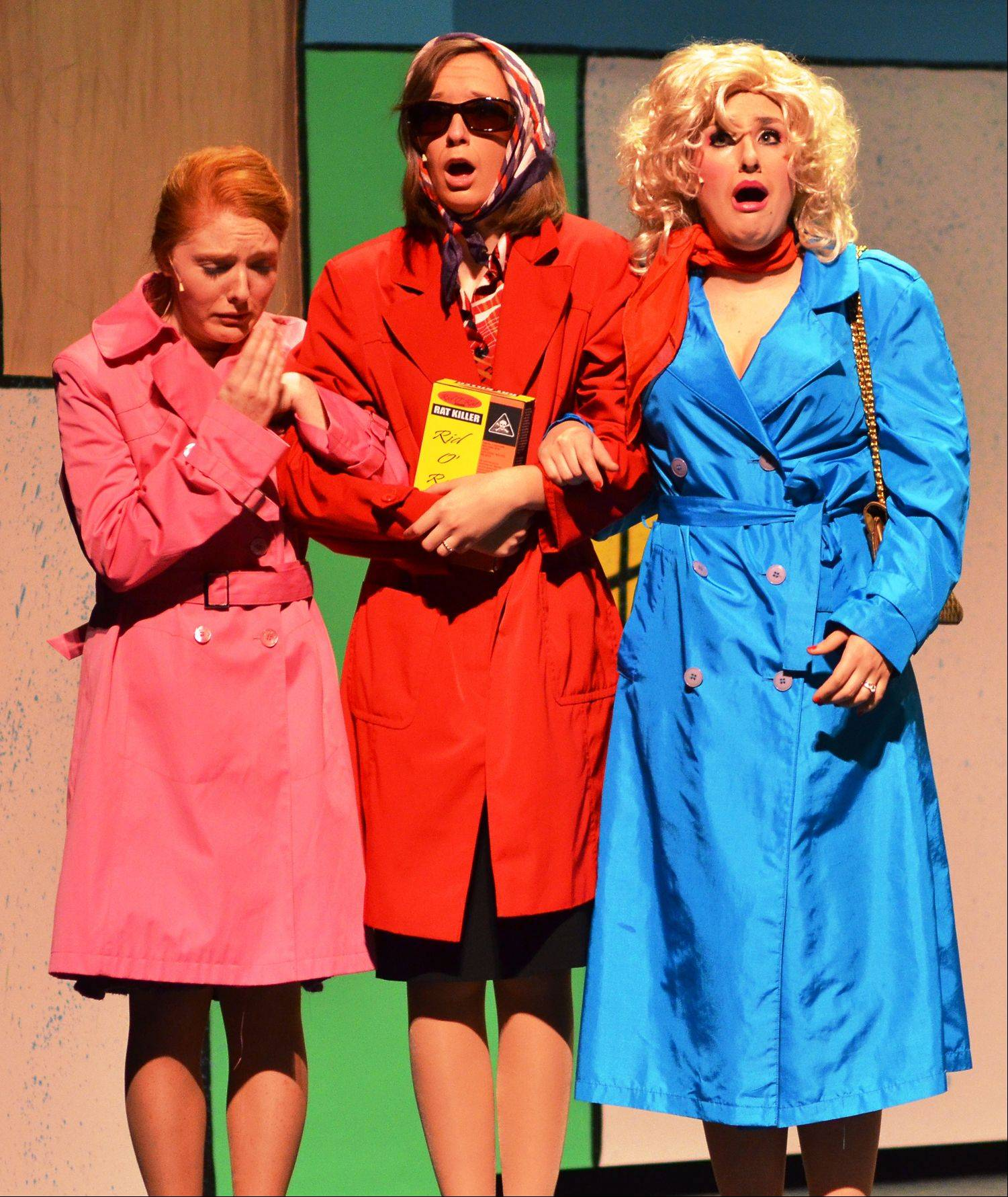 "In Batavia High School's production of ""9 to 5: the Musical,"" from left, Cecily Lemon plays Judy Bernly, Kelsey Skomer plays Violet Newstead and Glynis Gilio plays Doralee Rhodes. All three girls are juniors."