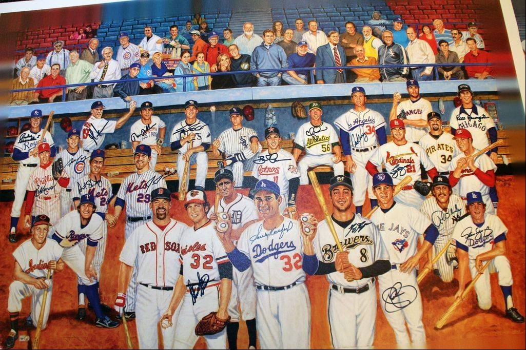Autographed lithographs that commemorate the role of Jews in Major League Baseball were created through the efforts of Greg Harris of Buffalo Grove.