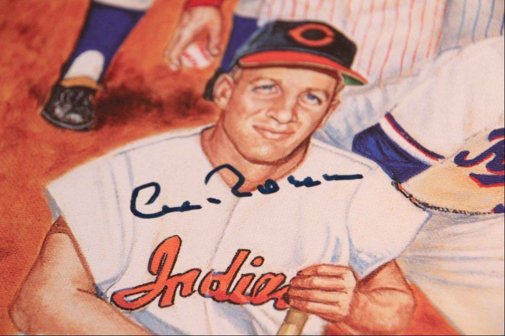 Al Rosen, now 85, was one of the players who autographed lithographs that commemorate the role of Jews in Major League Baseball. The lithographs were created through the efforts of Greg Harris of Buffalo Grove.
