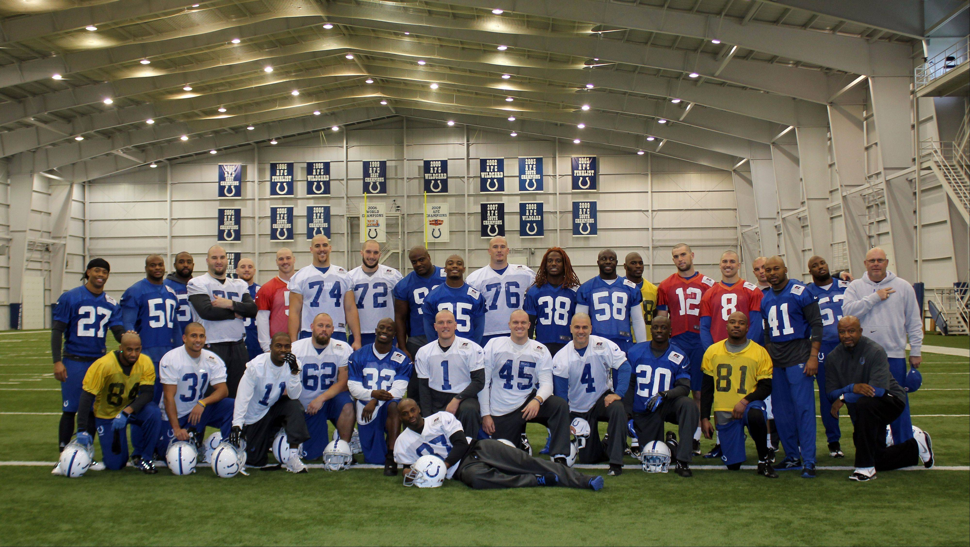 The Colts are going to great lengths to support their ailing coach Chuck Pagano. In a show of support, many players shaved their heads after Tuesday's practice. Pagano lost his hair while undergoing treatment for leukemia.