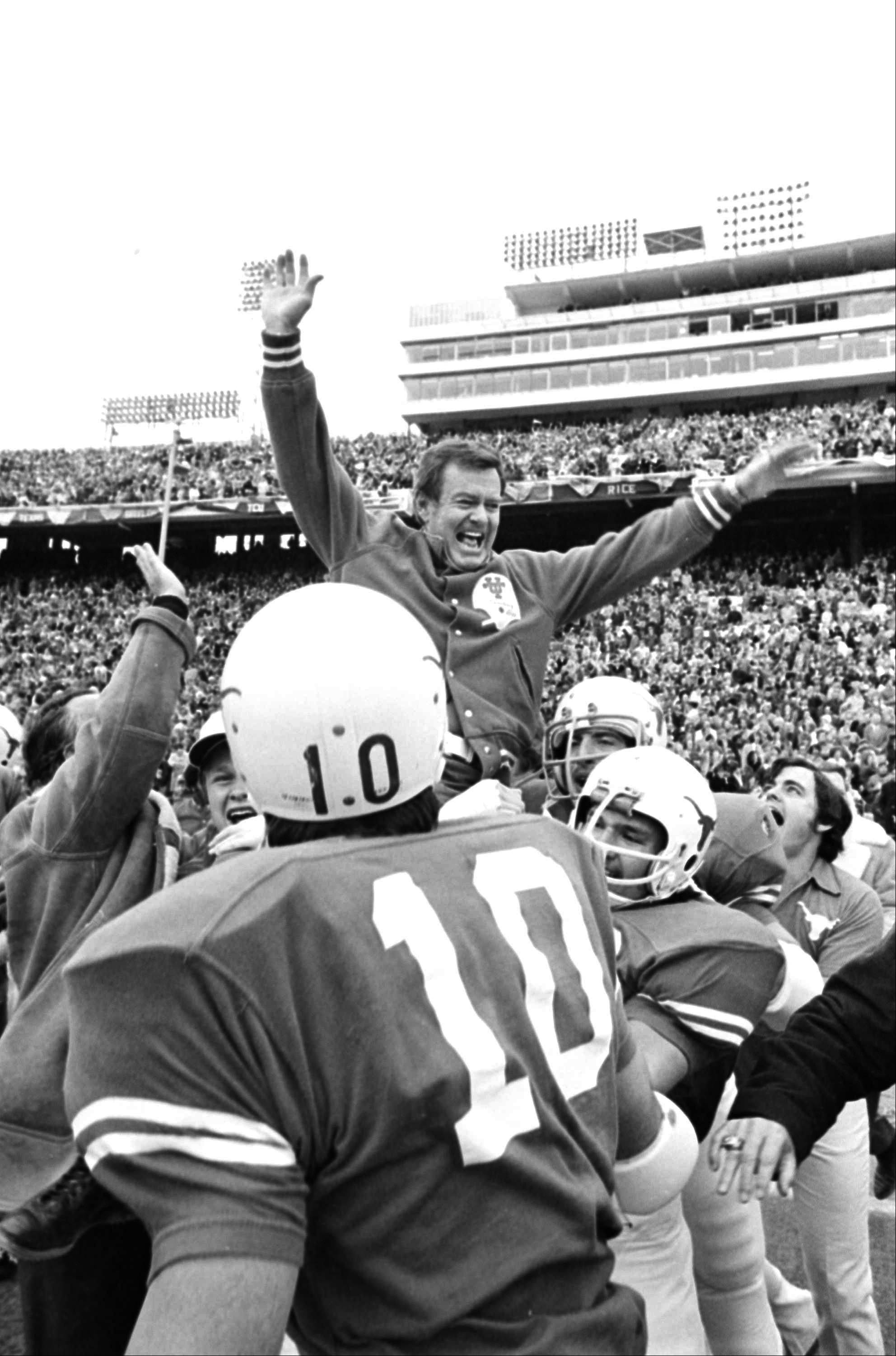 The University of Texas says former football coach Darrell Royal, who won two national championships and a share of a third, has died. He was 88. UT spokesman Nick Voinis on Wednesday confirmed Royal's death in Austin.