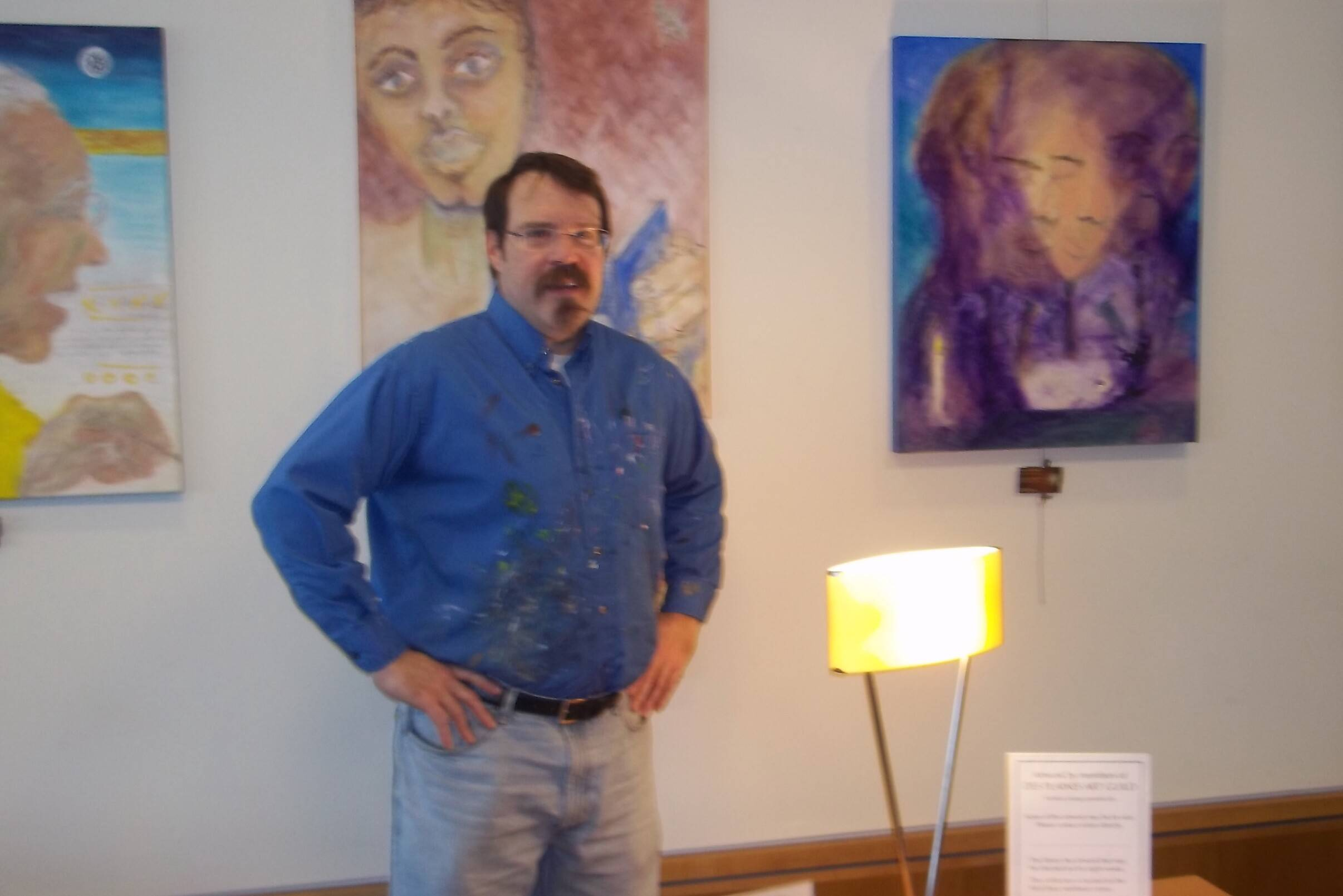 Steven Wagner and some of his paintings