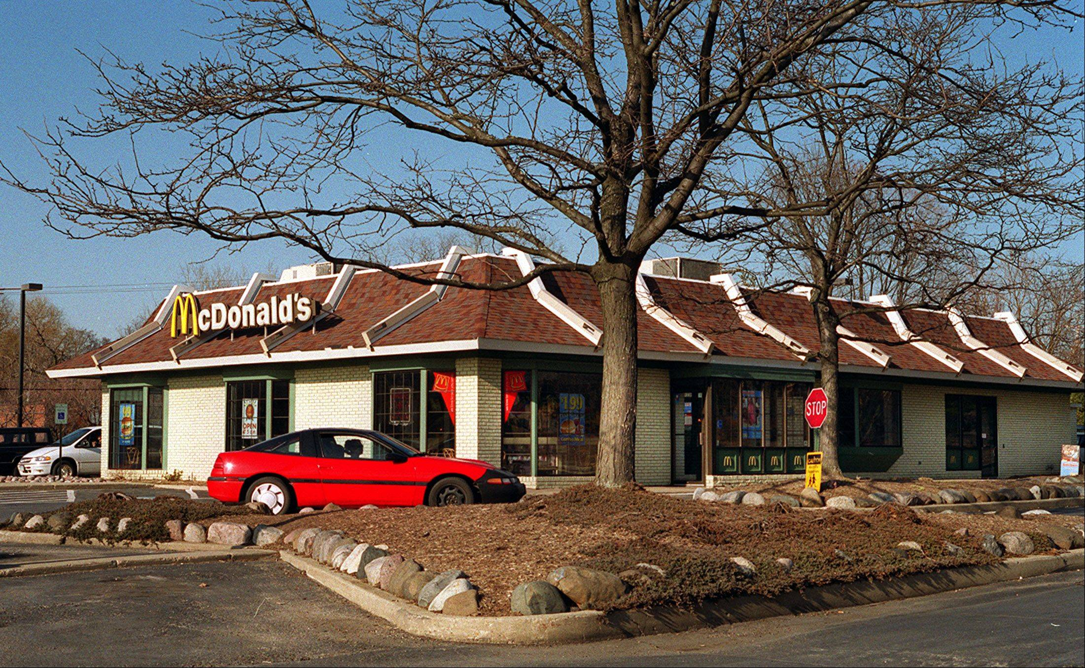 Oak Brook-based McDonald�s Corp. said Thursday that a key sales figure fell for the first time in nearly a decade in October, as it faced intensifying competition and a challenging economy.