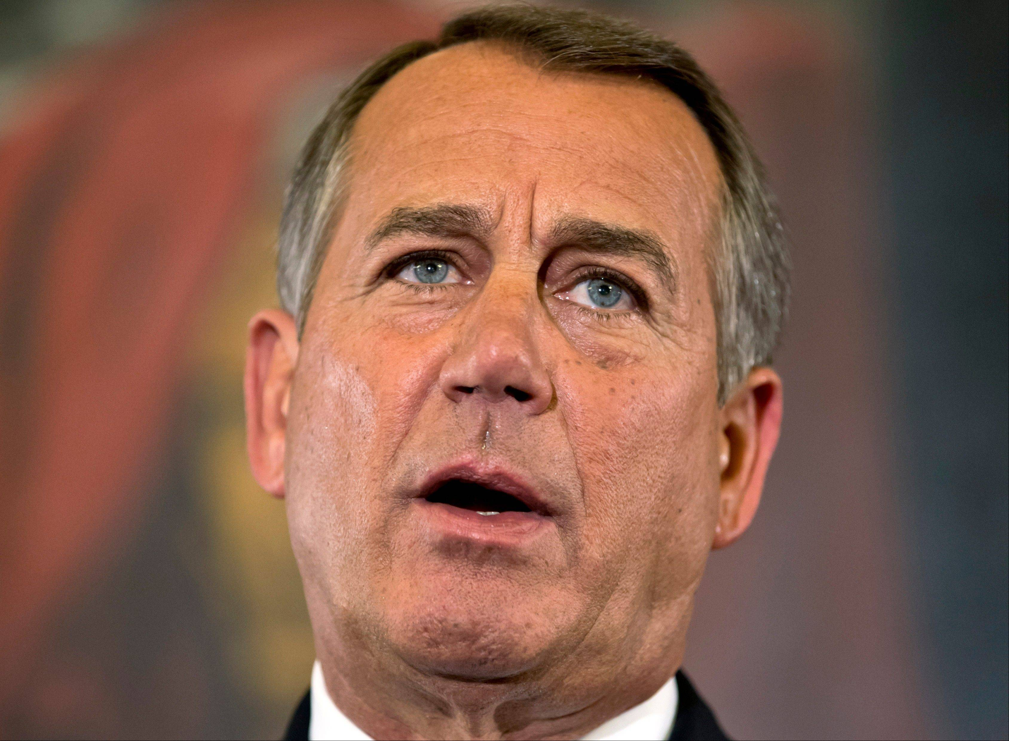 Speaker of the House John Boehner, an Ohio Republican, on Wednesday expressed a willingness to discuss tax hikes.