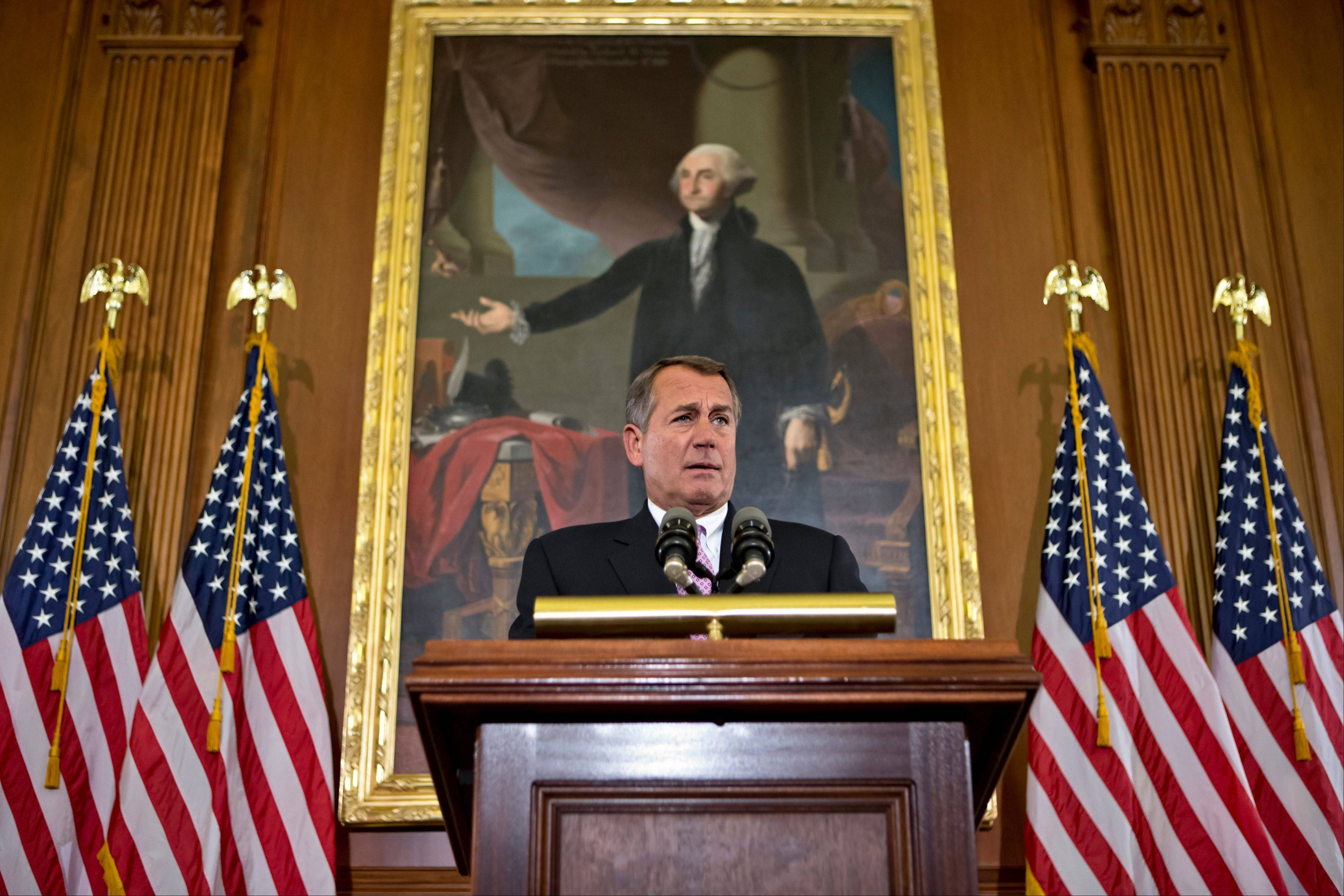House Speaker John Boehner, R-Ohio, says Republicans are willing to consider some form of higher tax revenue as part of the solution to the �fiscal cliff� problem � but only under what he calls �the right conditions.�
