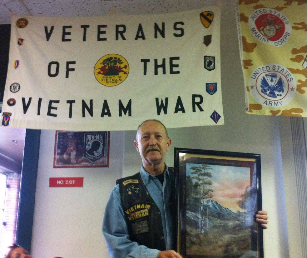 """My art is a source of healing,"" says Richard Beauvais, a Huey crew chief whose helicopter was shot down in Vietnam and crashed in a rice paddy. Beauvais participates in an art program at the Captain James A. Lovell Federal Health Care Center in North Chicago."