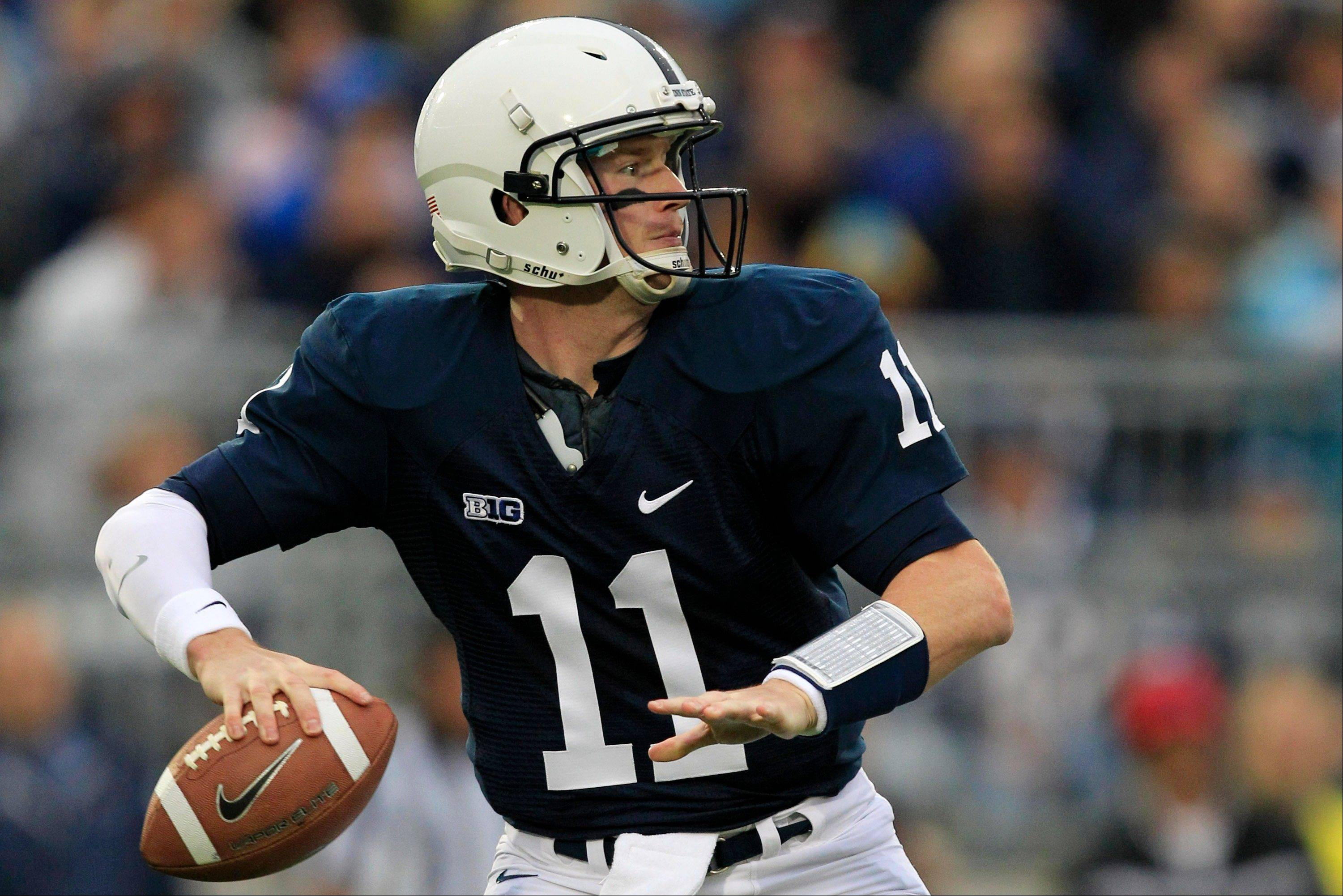 Penn State quarterback Matthew McGloin looks to pass during the first quarter against Temple in State College, Pa., earlier this season.