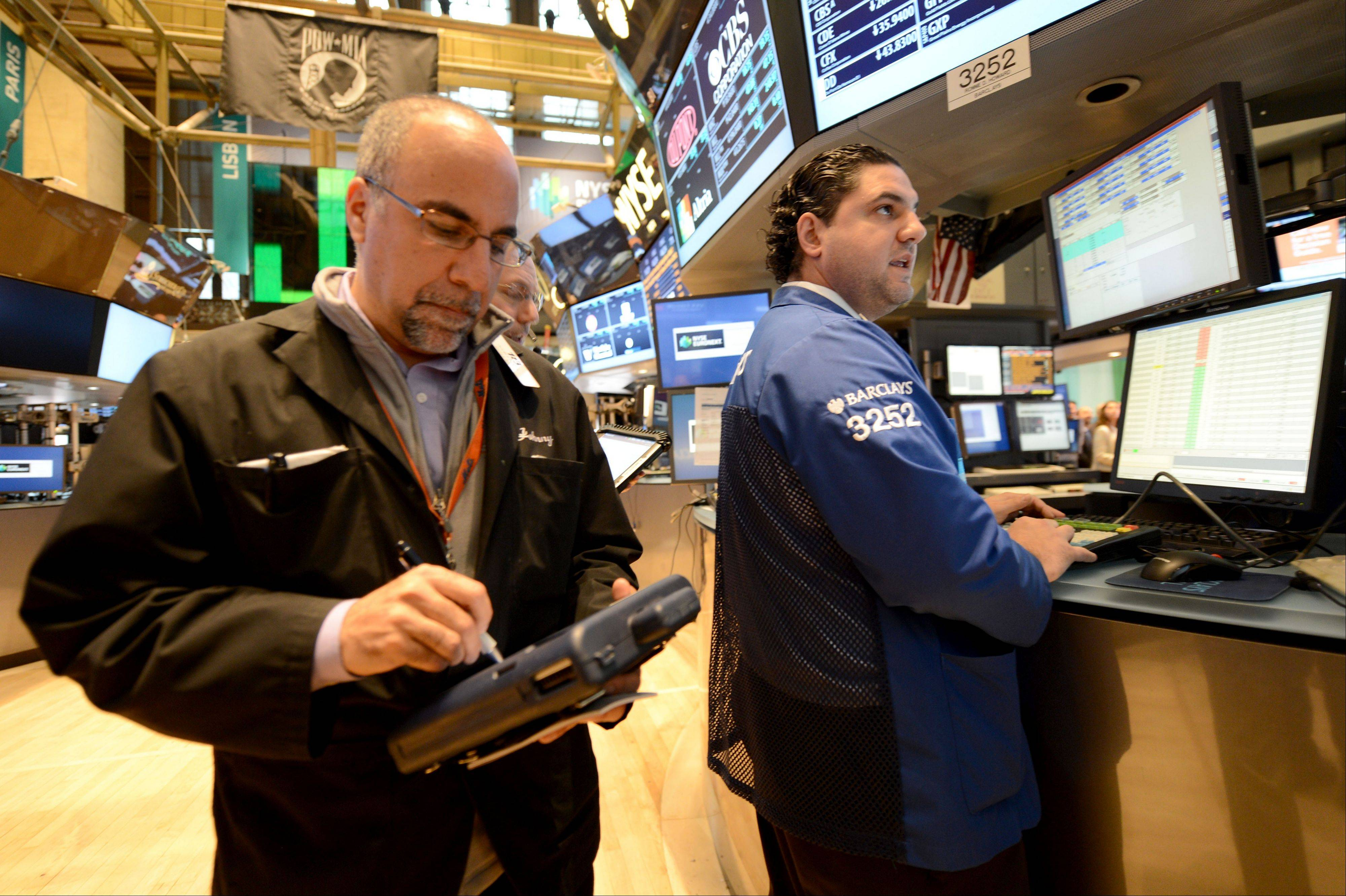 U.S. stocks declined, extending losses since the re-election of President Barack Obama and sending the Dow Jones Industrial Average to the lowest level since July, amid concern about Greece's financial aid payment.