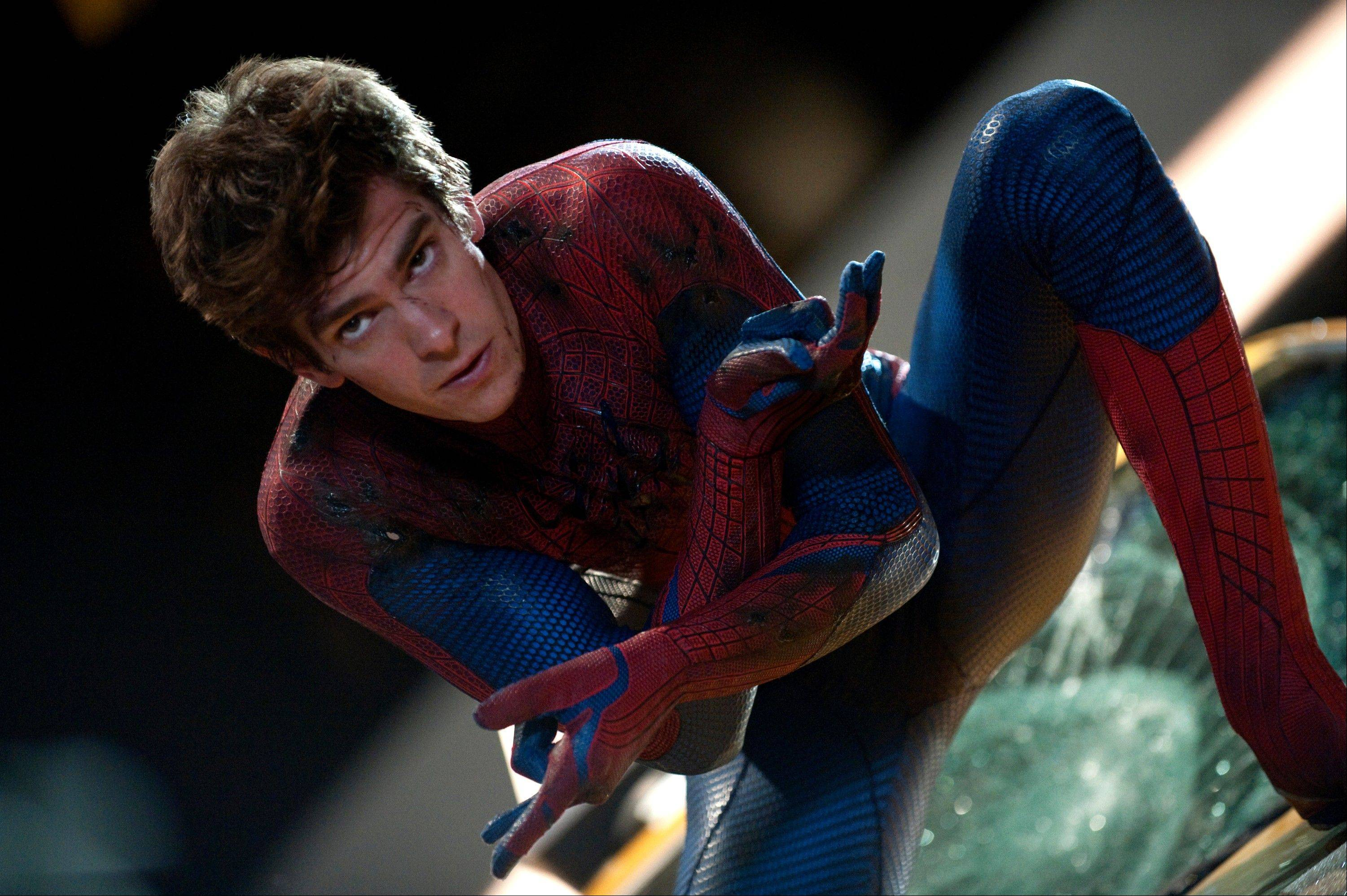 "Peter Parker (Andrew Garfield) develops special powers in ""The Amazing Spider-Man."""