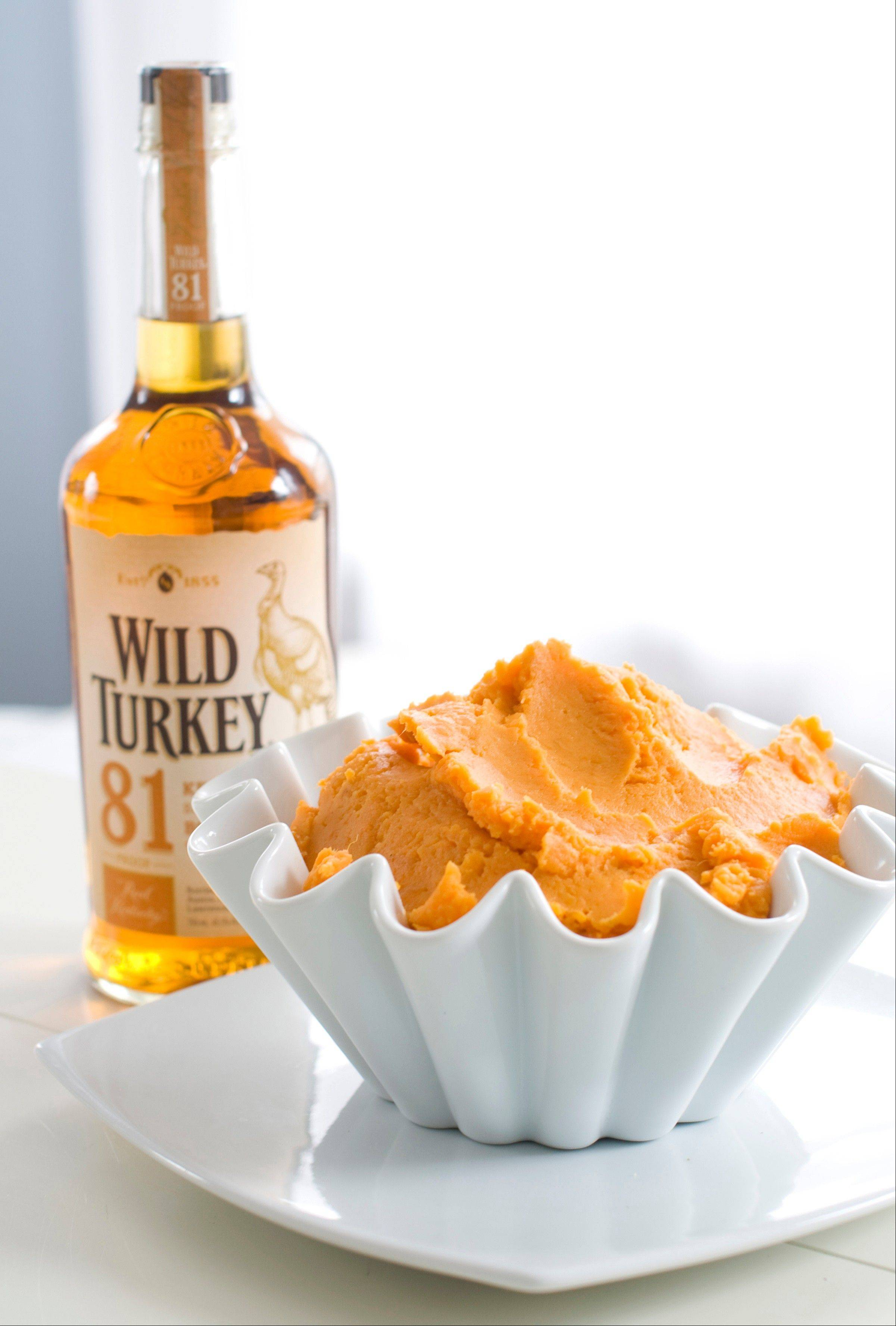 Wild Turkey can be mixed in mashed sweet potato.