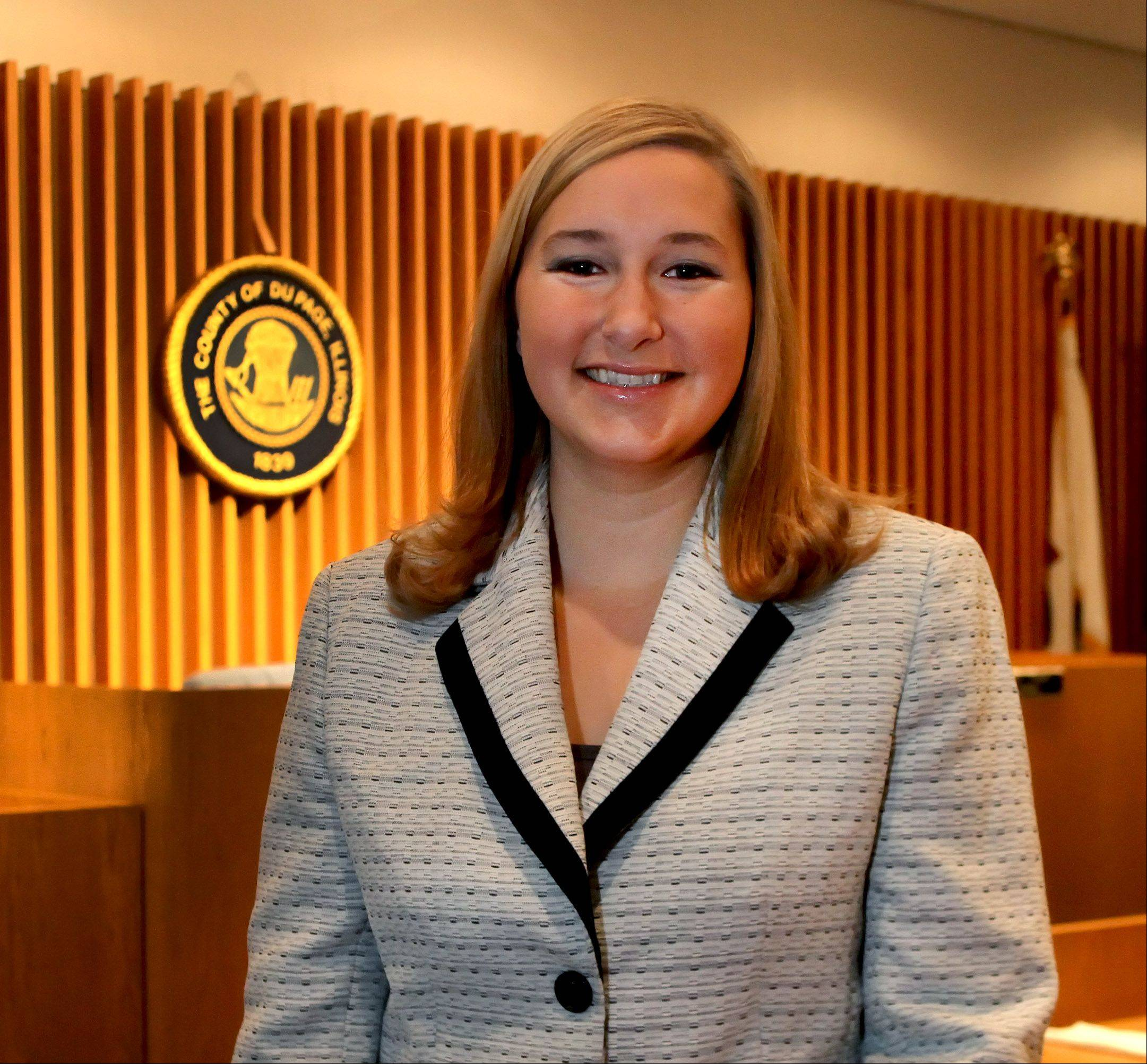 "Lauren ""Laurie"" Nowak, 25, of Bartlett will be the youngest member of the DuPage County Board."