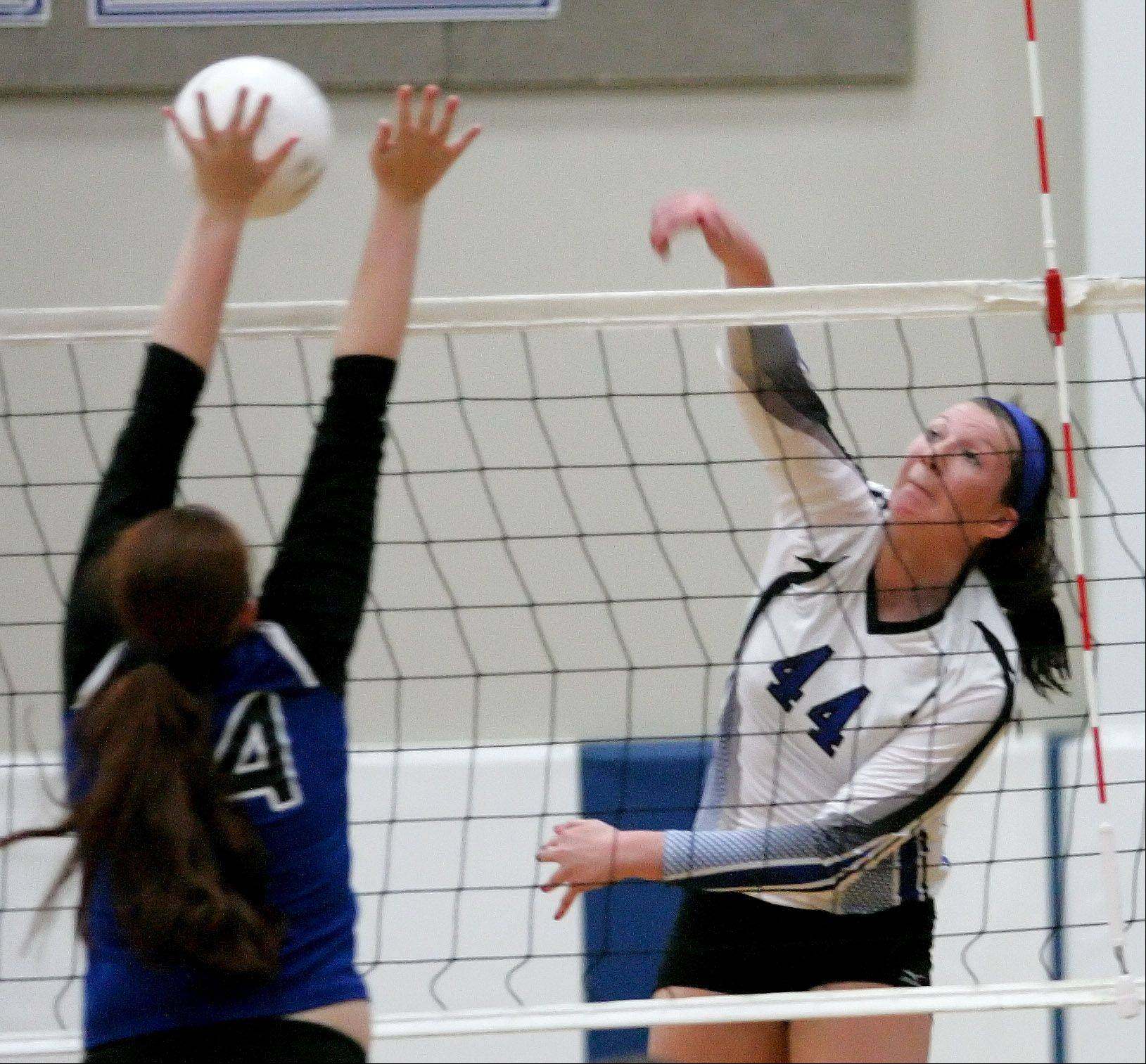 Maddie Haggerty of St. Francis volleyball.