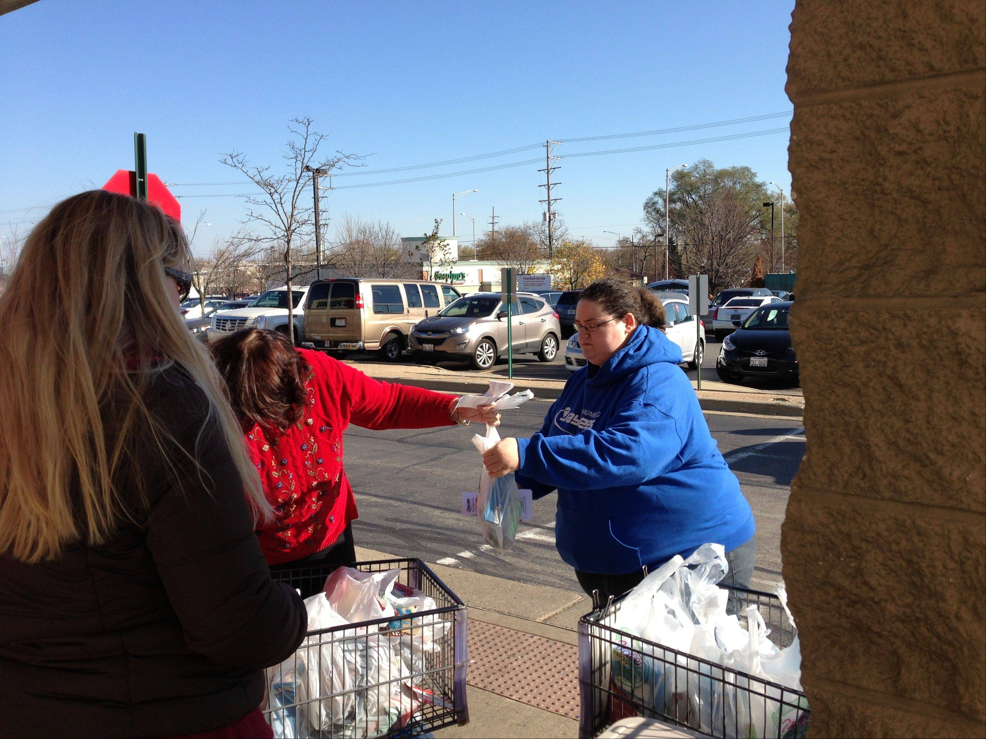One of many generous donors who helped make the Hoffman Estates Jaycees Make A Difference Day Food Drive a success.