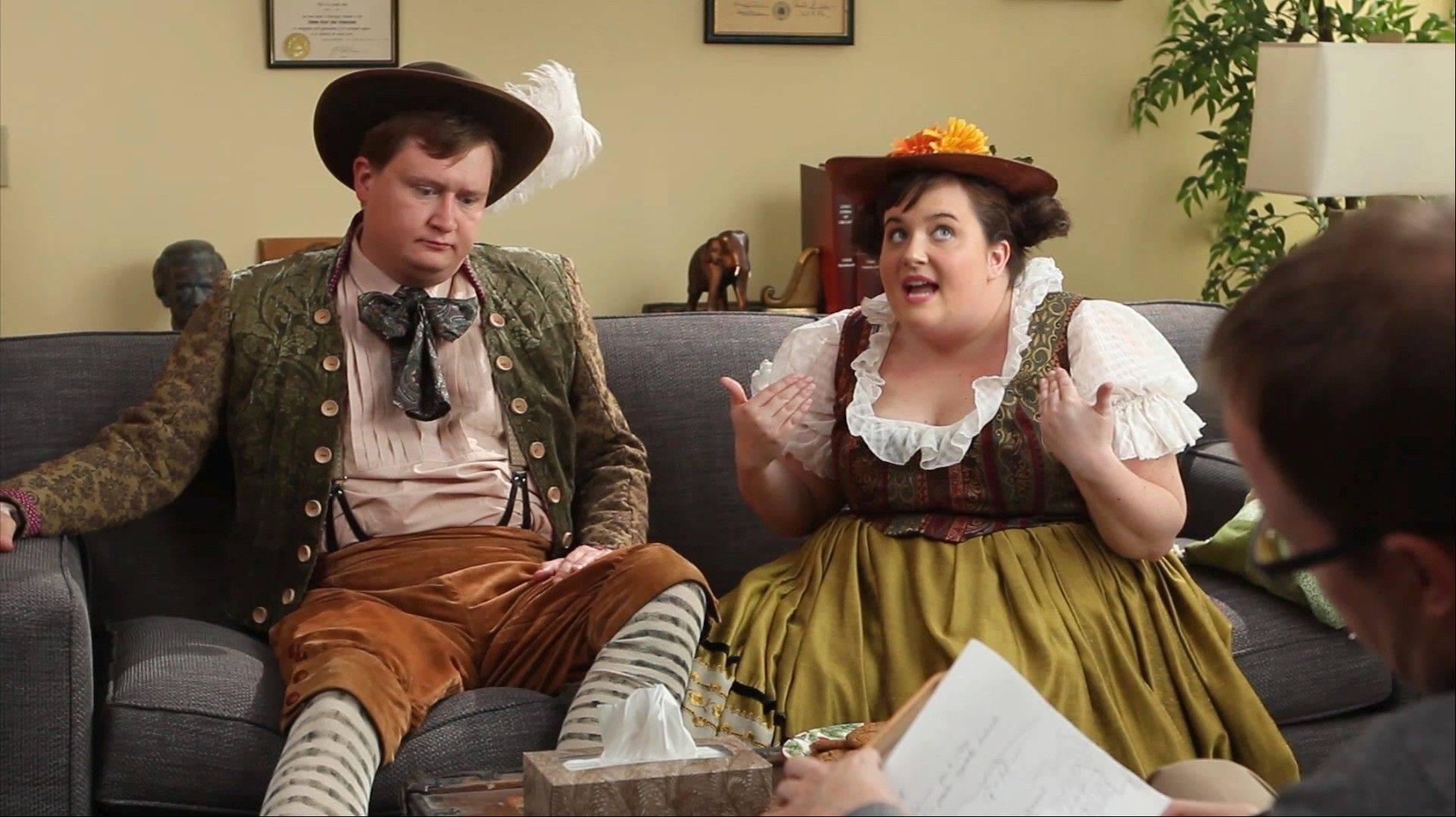 "One of two online comedy sketches features a Doctor Opera therapy session featuring Hansel (Adam Peacock) and Gretel (Aidy Bryant) talking through their various issues. The Lyric Opera of Chicago has teamed up with The Second City for a one-night-only performance of ""The Second City Guide to the Opera"" set for Saturday, Jan. 5."