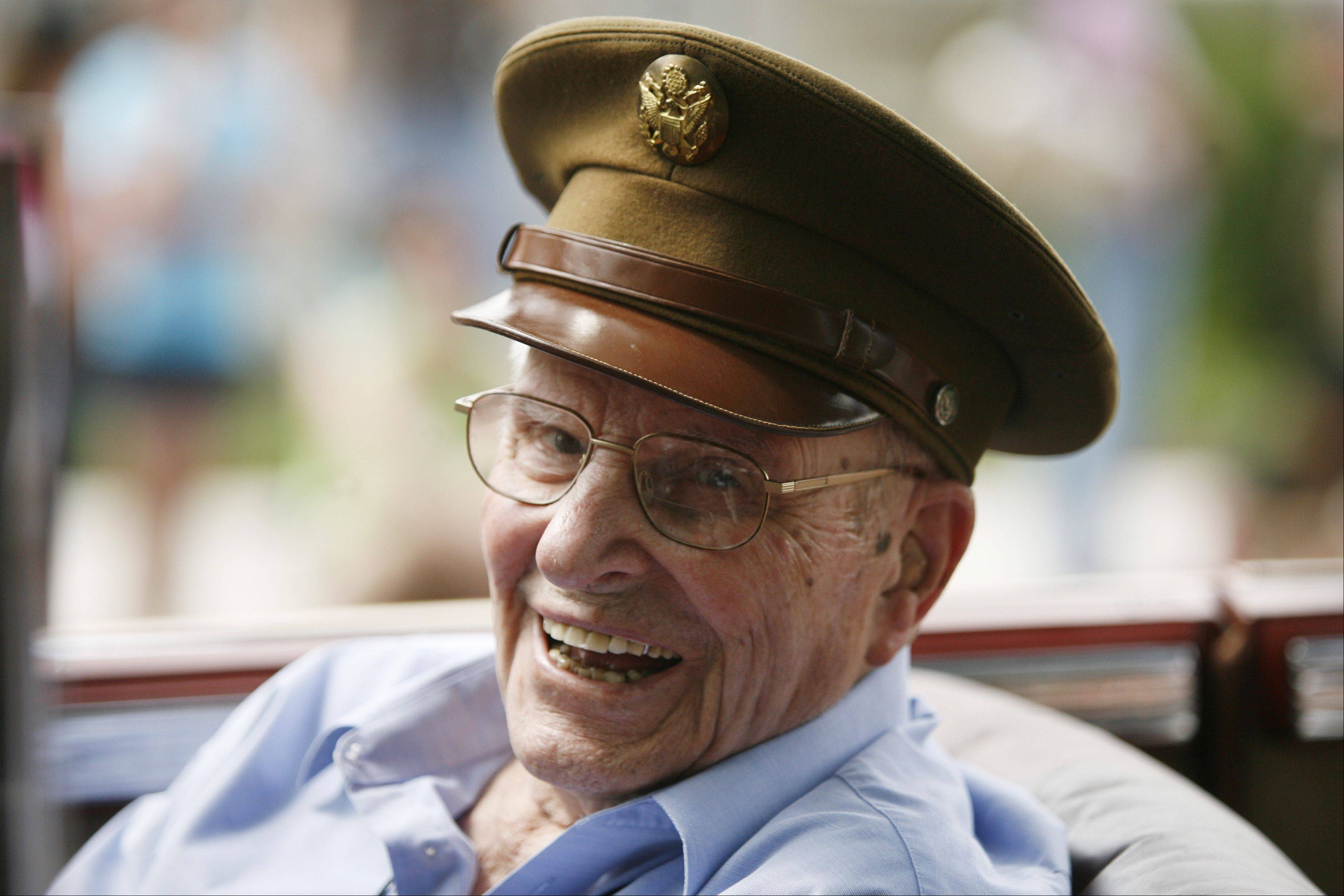 Leo Kuefler, 95, was Naperville's oldest veteran participating in the city's Memorial Day parade last May. He served as a platoon sergeant in the Army during World War II.