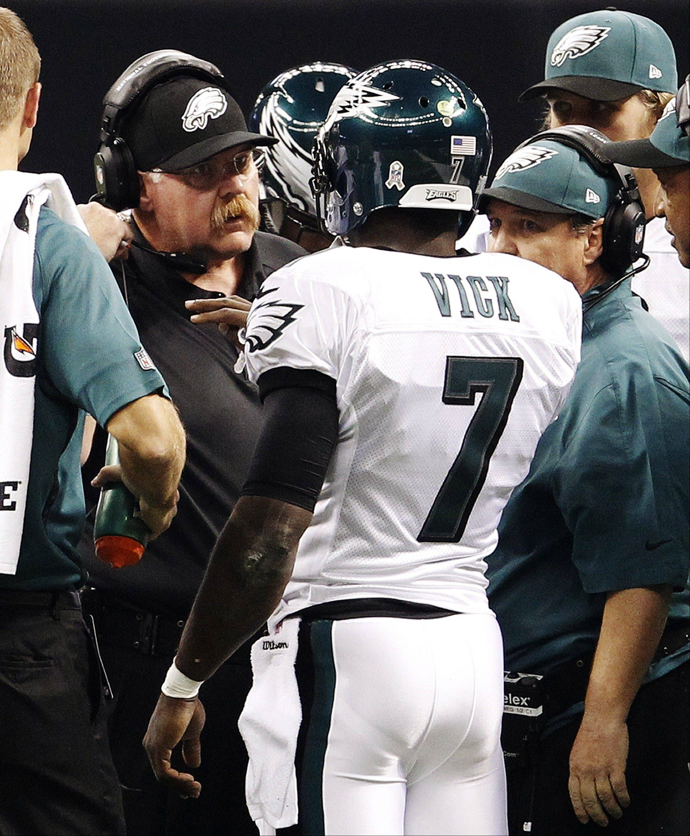 Philadelphia Eagles head coach Andy Reid is on the hot seat with his team struggling this season to win games behind starting quarterback Michael Vick.